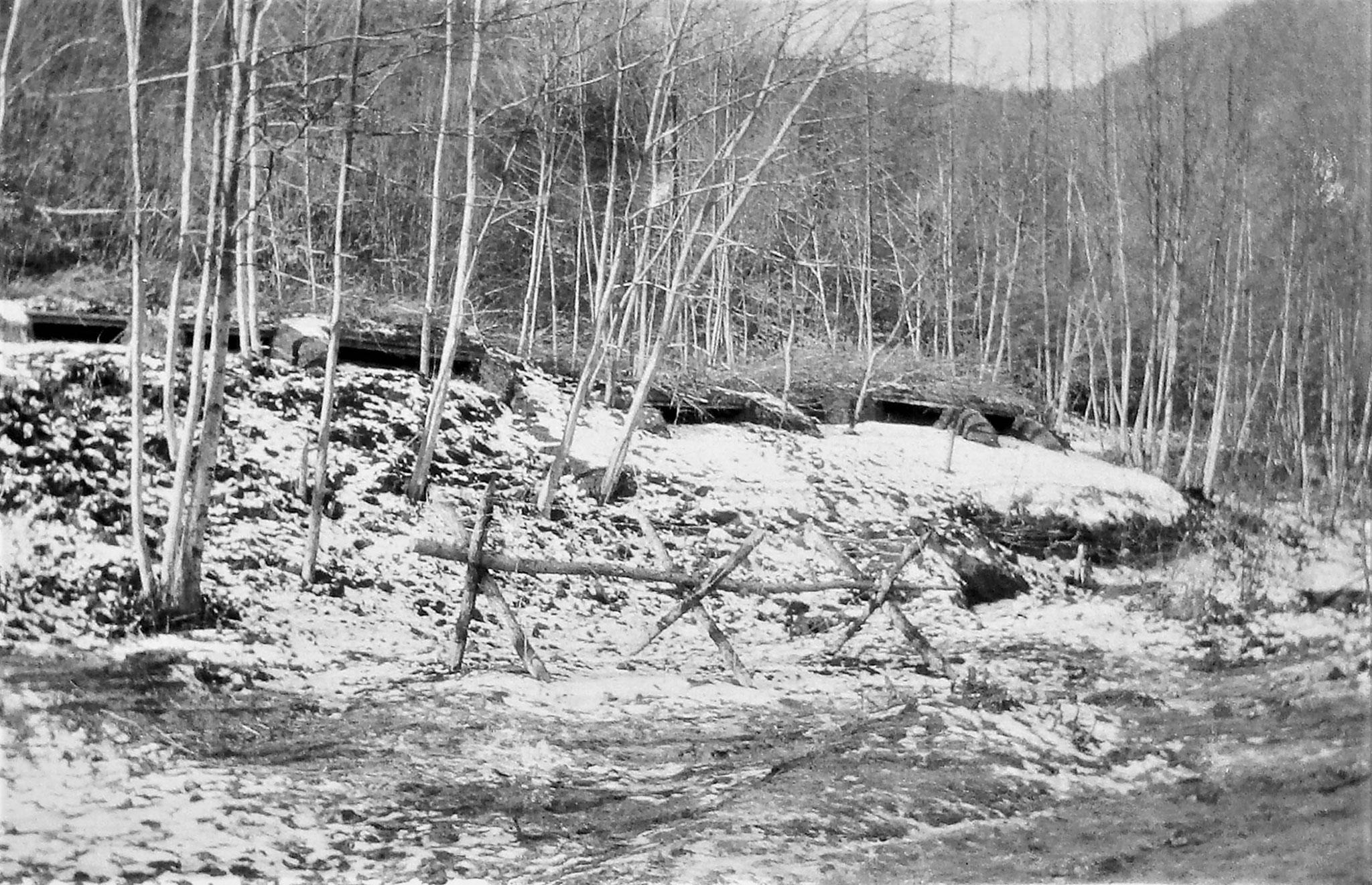 Kampfstellung 3c der Hochwasserstellung (2. Linie) beim 3. Zug.