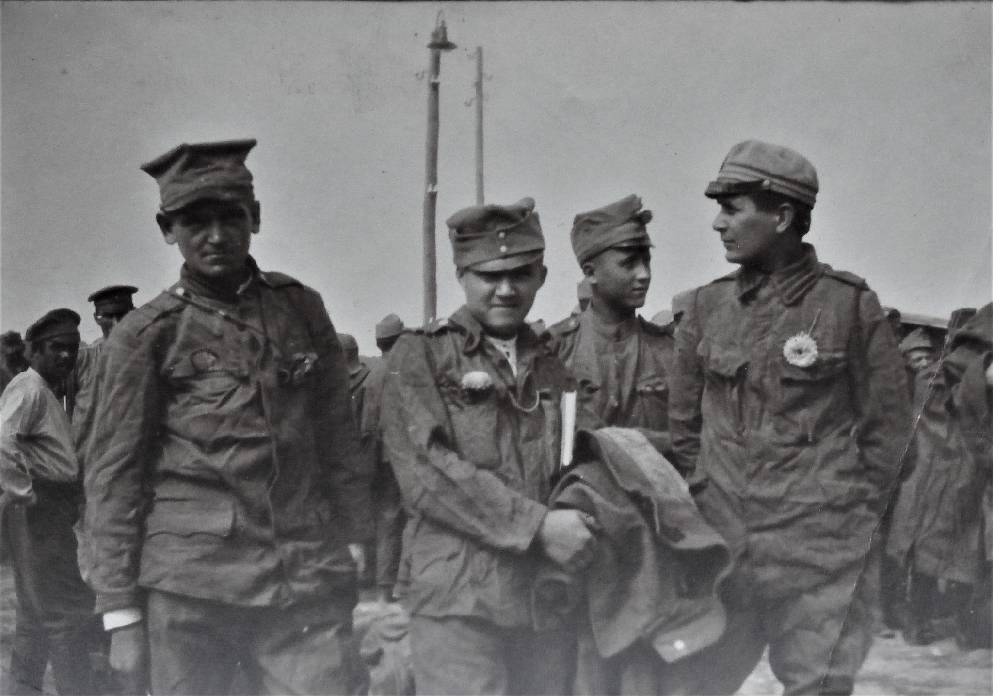 Soldaten der Polnischen Legion.