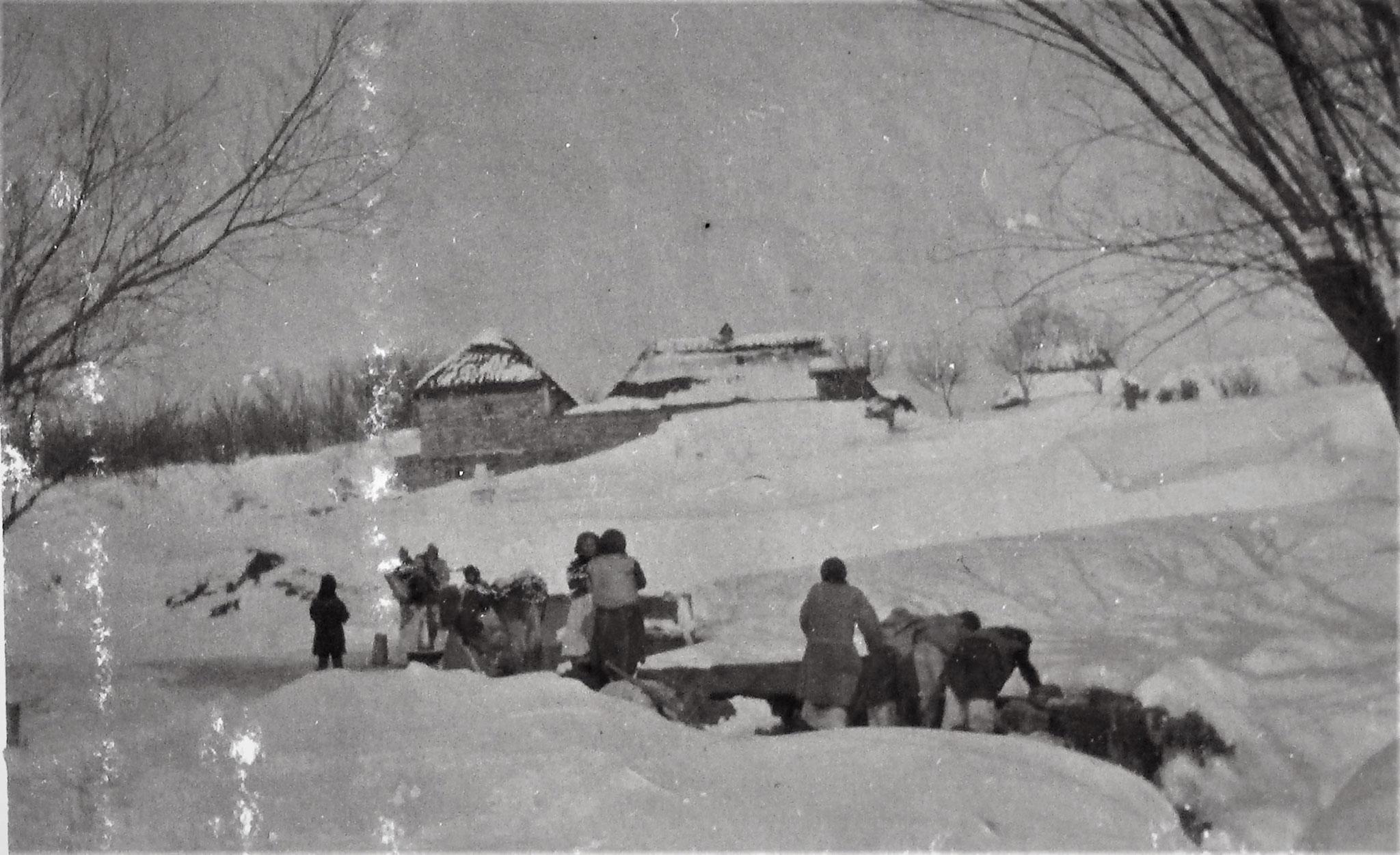 Partie von Latacz im Schnee.