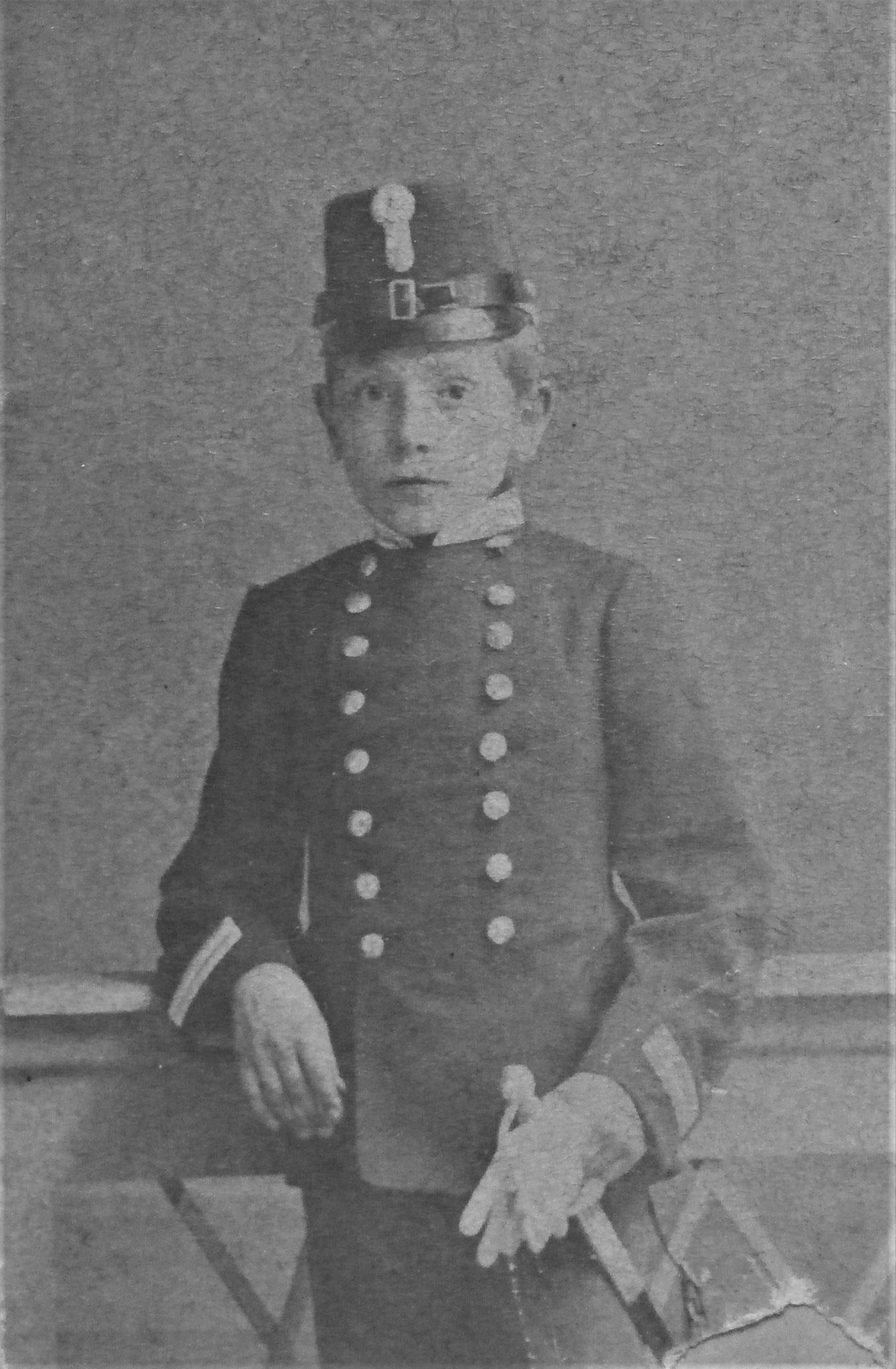 1892 Curt als Zögling d. Gfl. Löwenburgischen Piaristenkonvikts Maria Treuplatz Wien VIII.