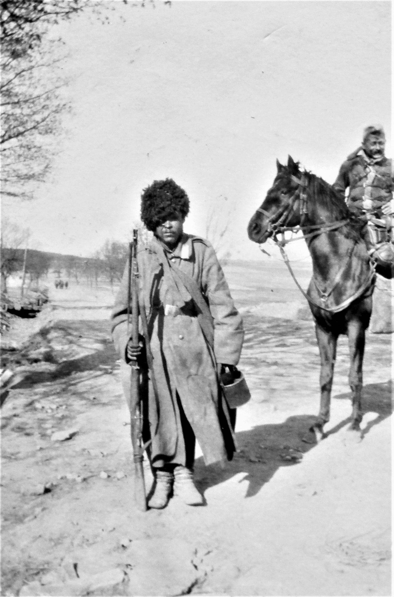 Ein der DivKav gefangener Russe.