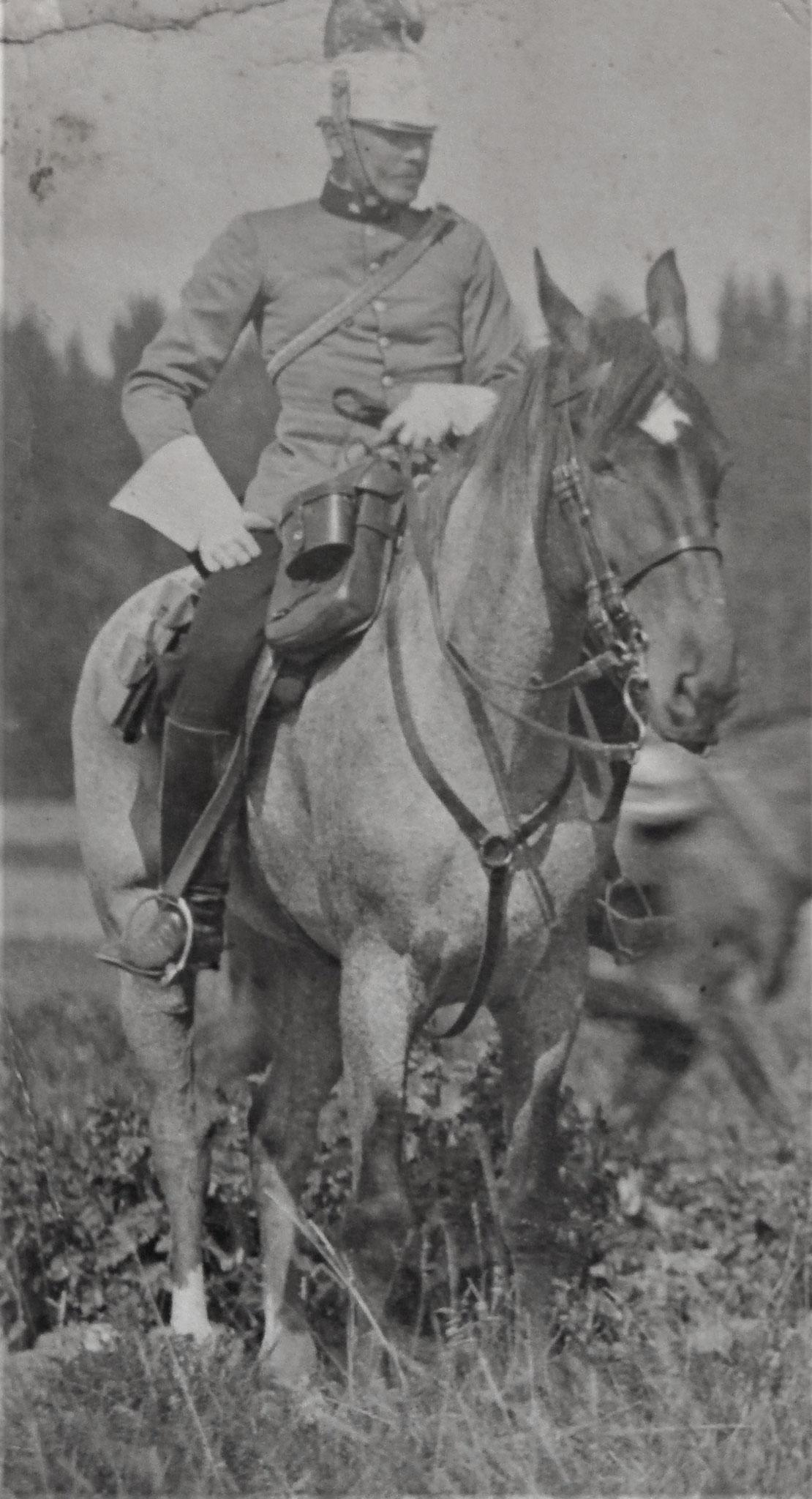 Curt als Leutnant.