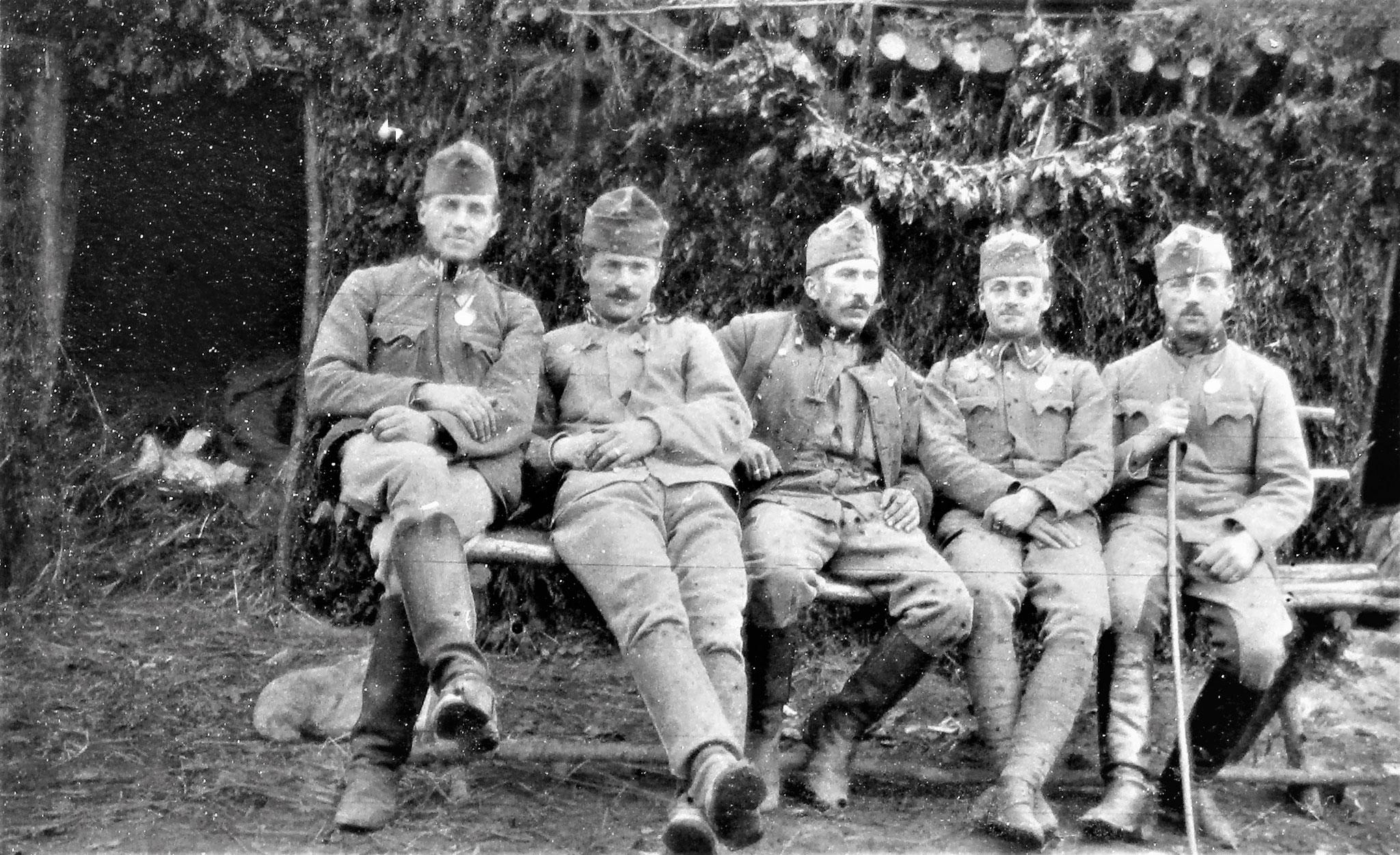 Unteroffiziere vom Stab u. der 3. Esk: Kopriwa, Wchtm. Glaser der Tel.Patr., Kpl, später Zgfr Walzl, Czernicky, Filipitsch.