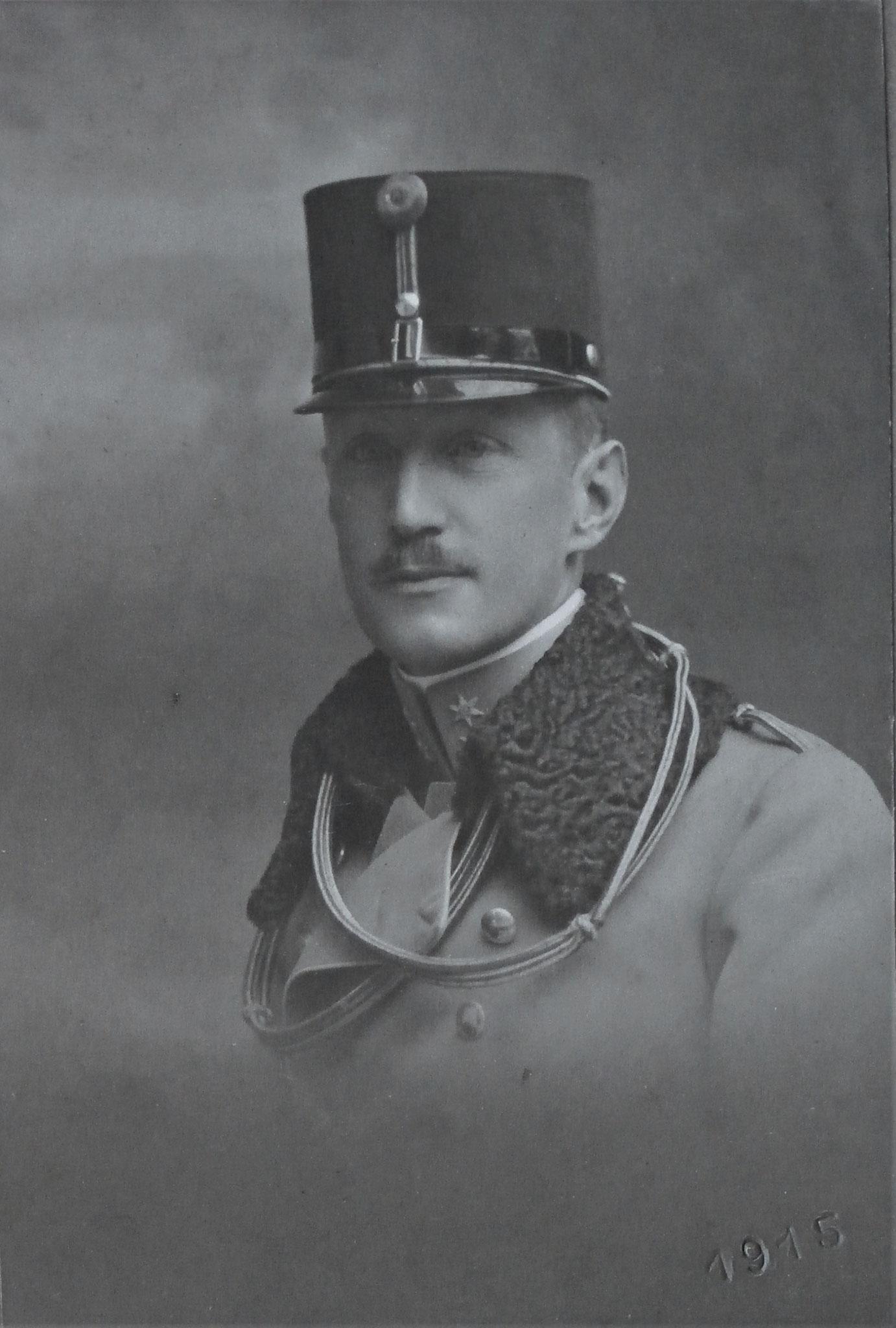 Curt als Oberleutnant.