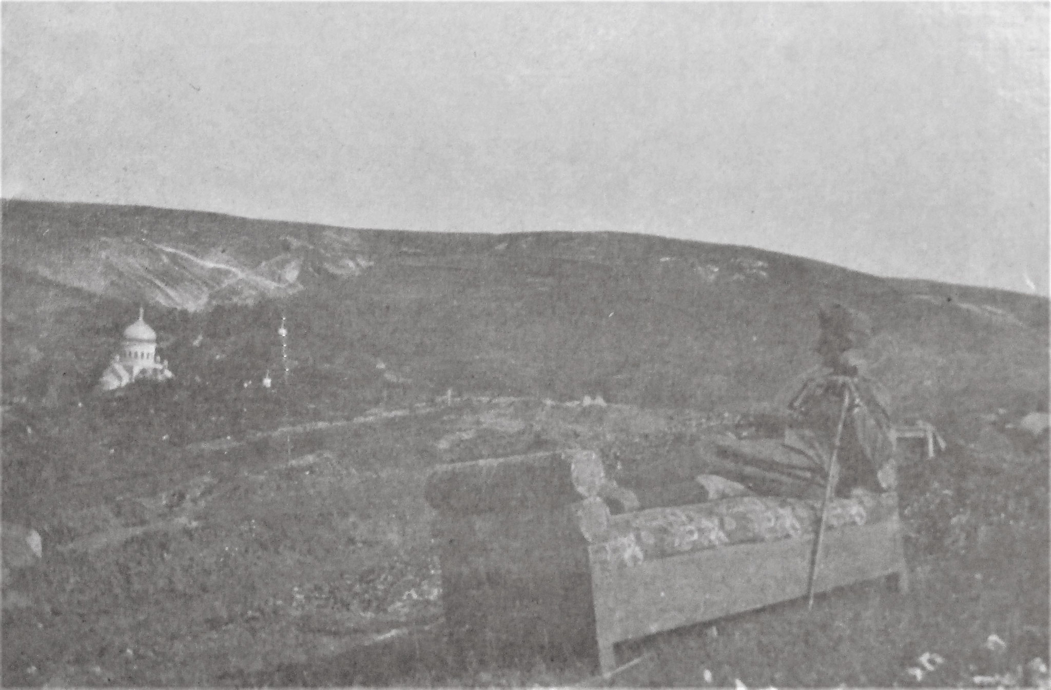 Blick aus der Stellung der Sch.Esk. 2./H.15 nach Südenwesten.