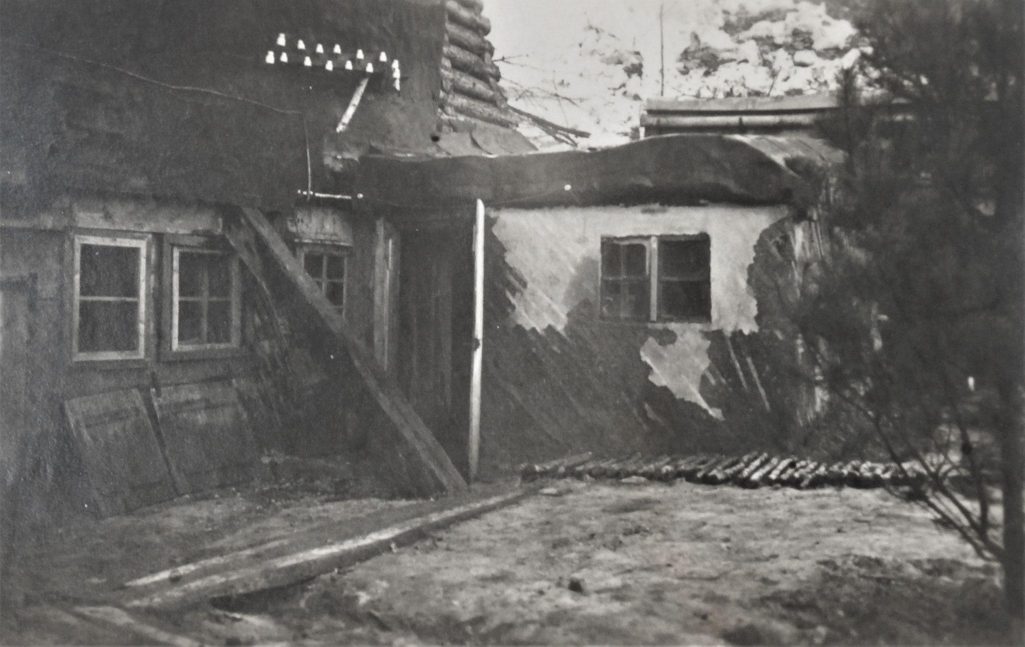 Jänner 1918 Rgtskmdo Sandgrube westl. Wysocko.