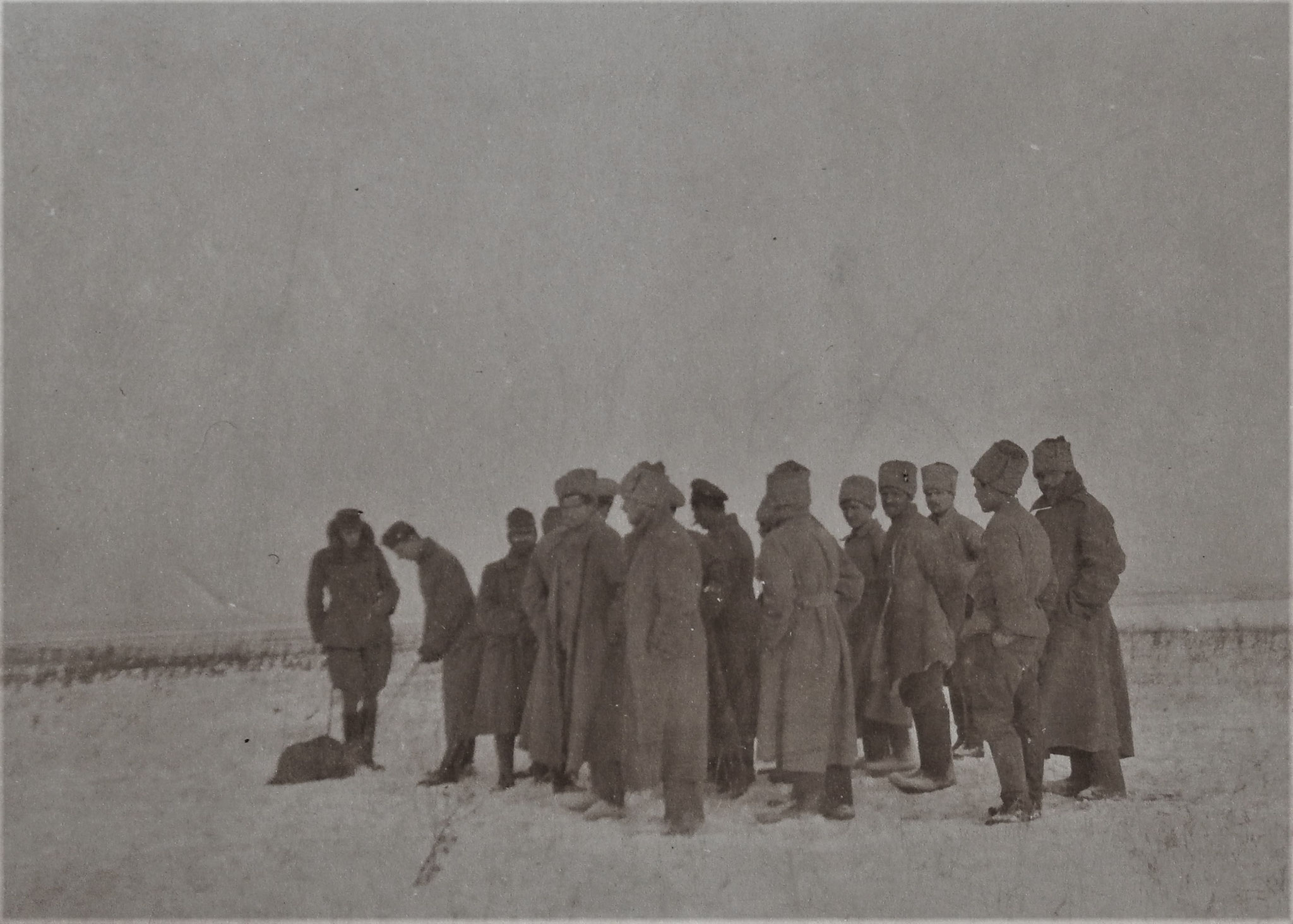 Unsere offiz. Verkehrstelle (mit den Russen) Wysocko 31 12 1917.