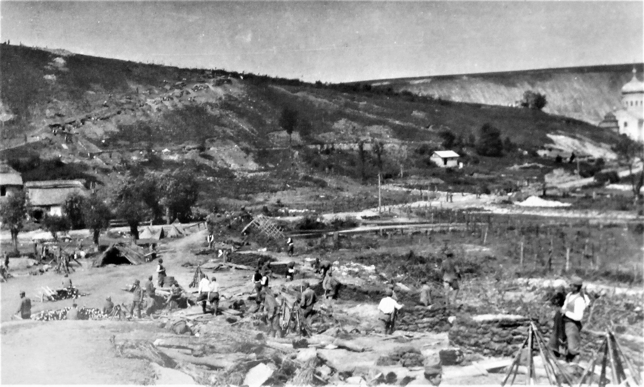 Nordteil der Stellung der 14. Kav. Brig (Gen. v. Rettich).