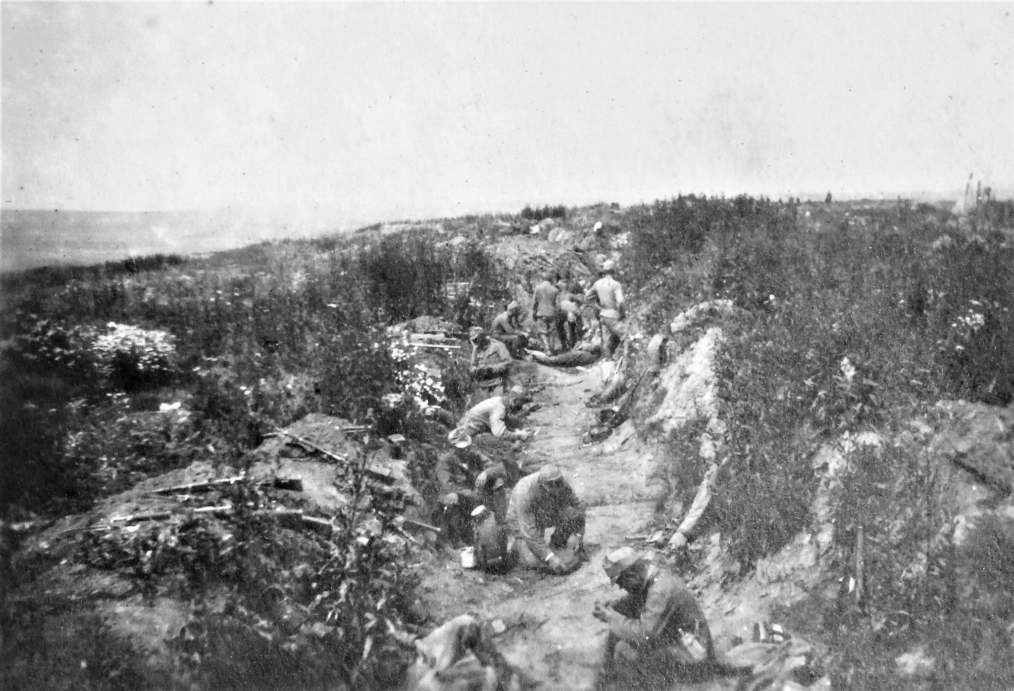 Nördlicher Graben der von uns erstürmten russ. Stellung auf der Höhe 307.