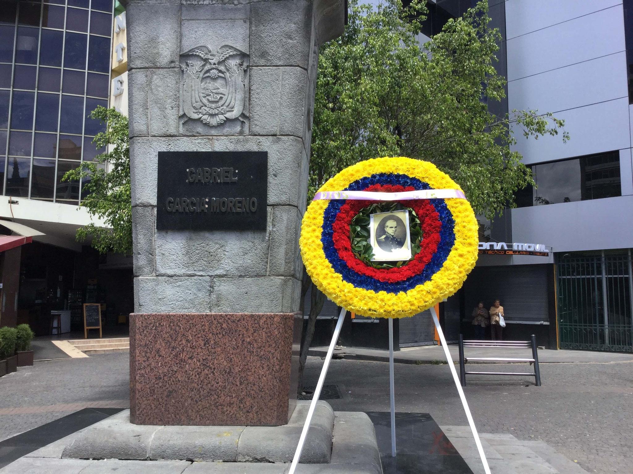 Monumento de Gabriel García Moreno, en Quito