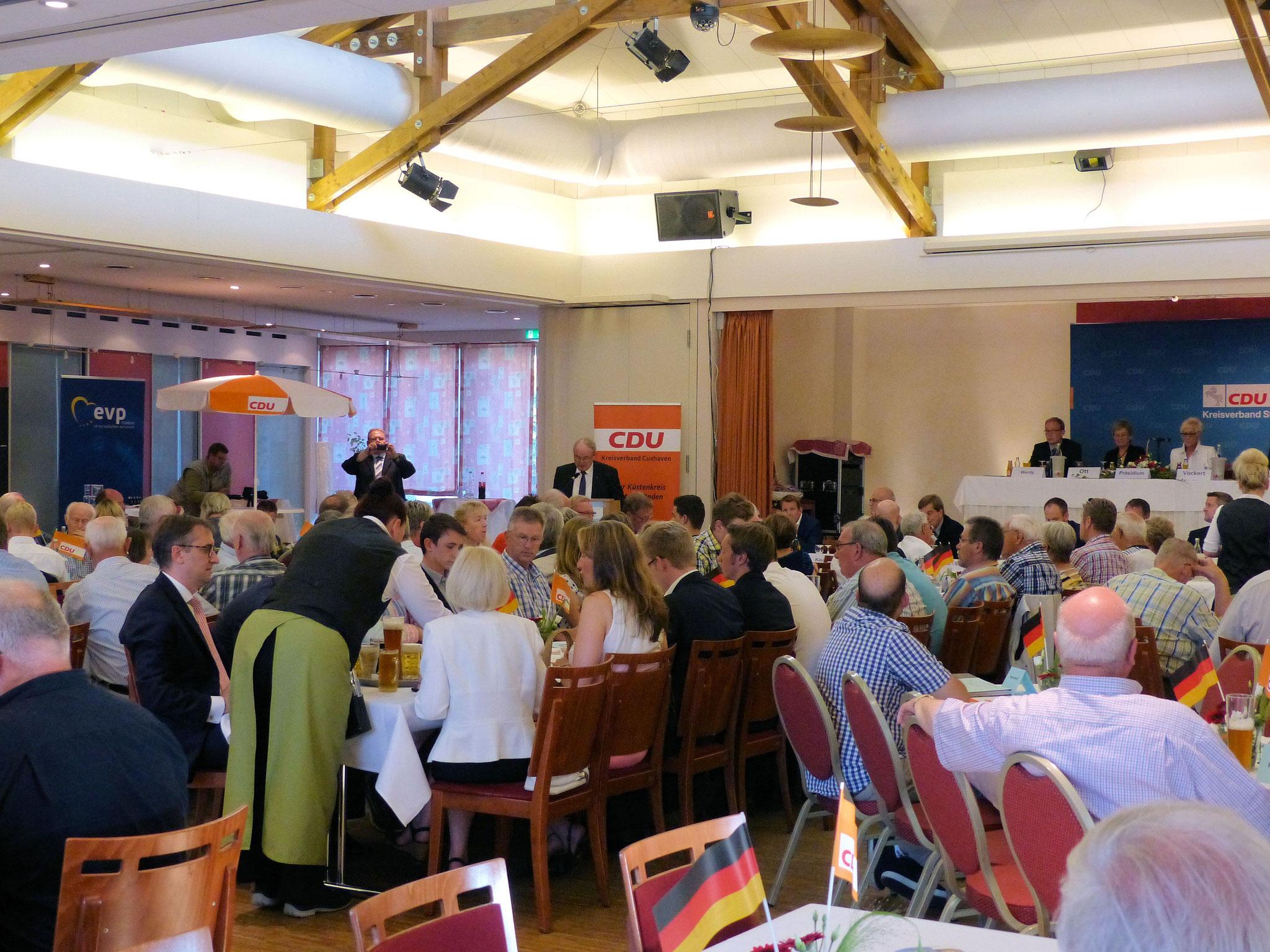 Bei der gut besuchten Nominierungsversammlung im MarC5 in Cadenberge...