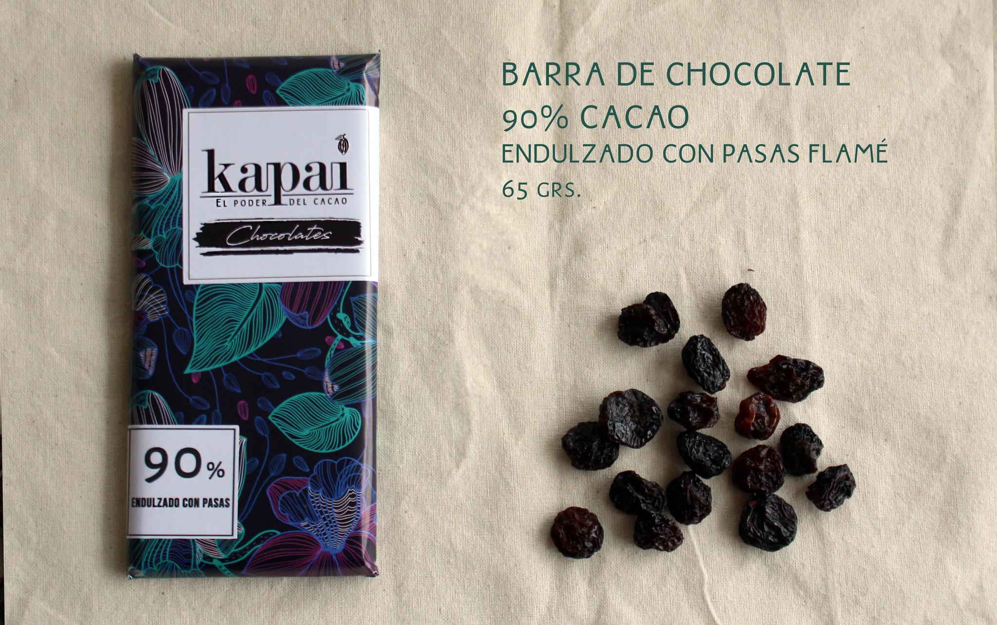 90% Cacao y Pasas Flamé