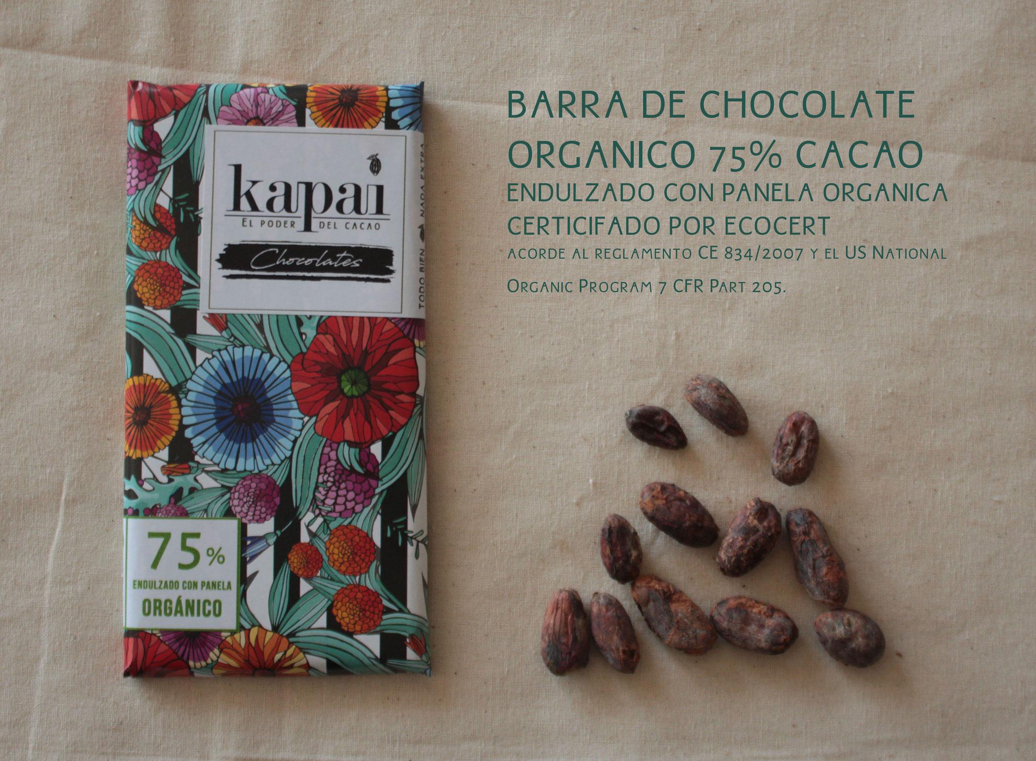 75% Cacao y Panela