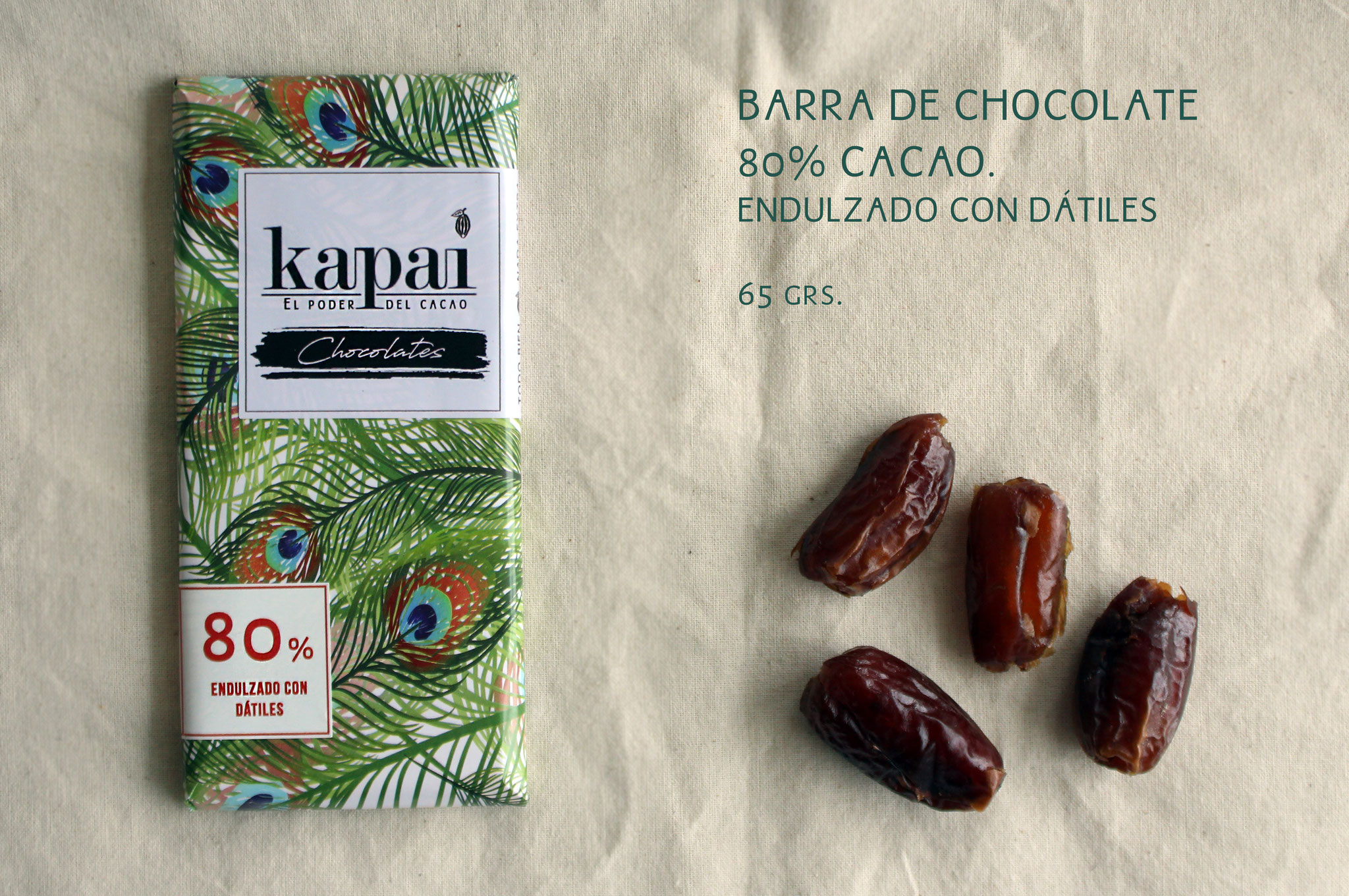 80% Cacao y Dátiles