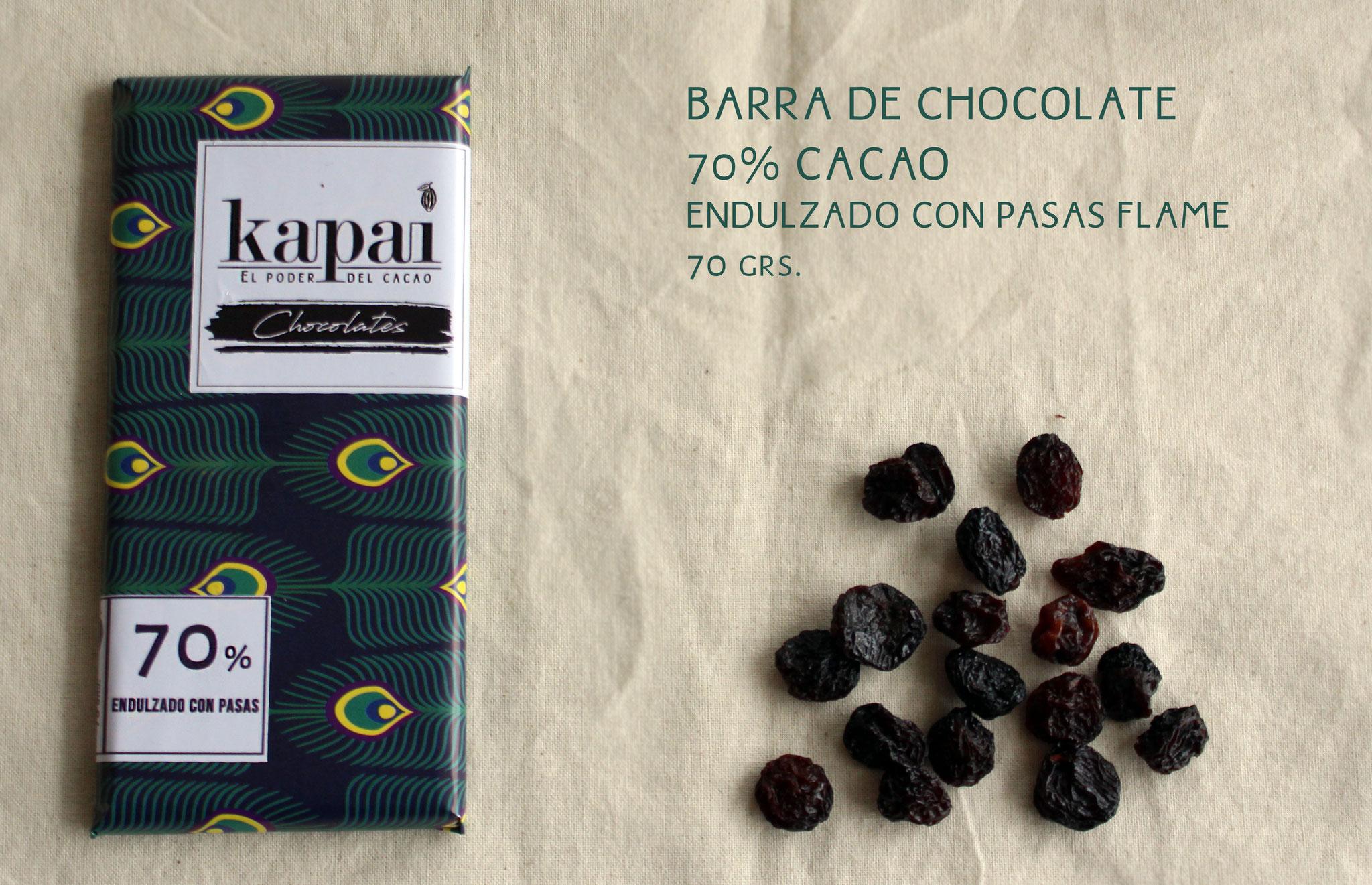 70% Cacao, Pasas Flamé