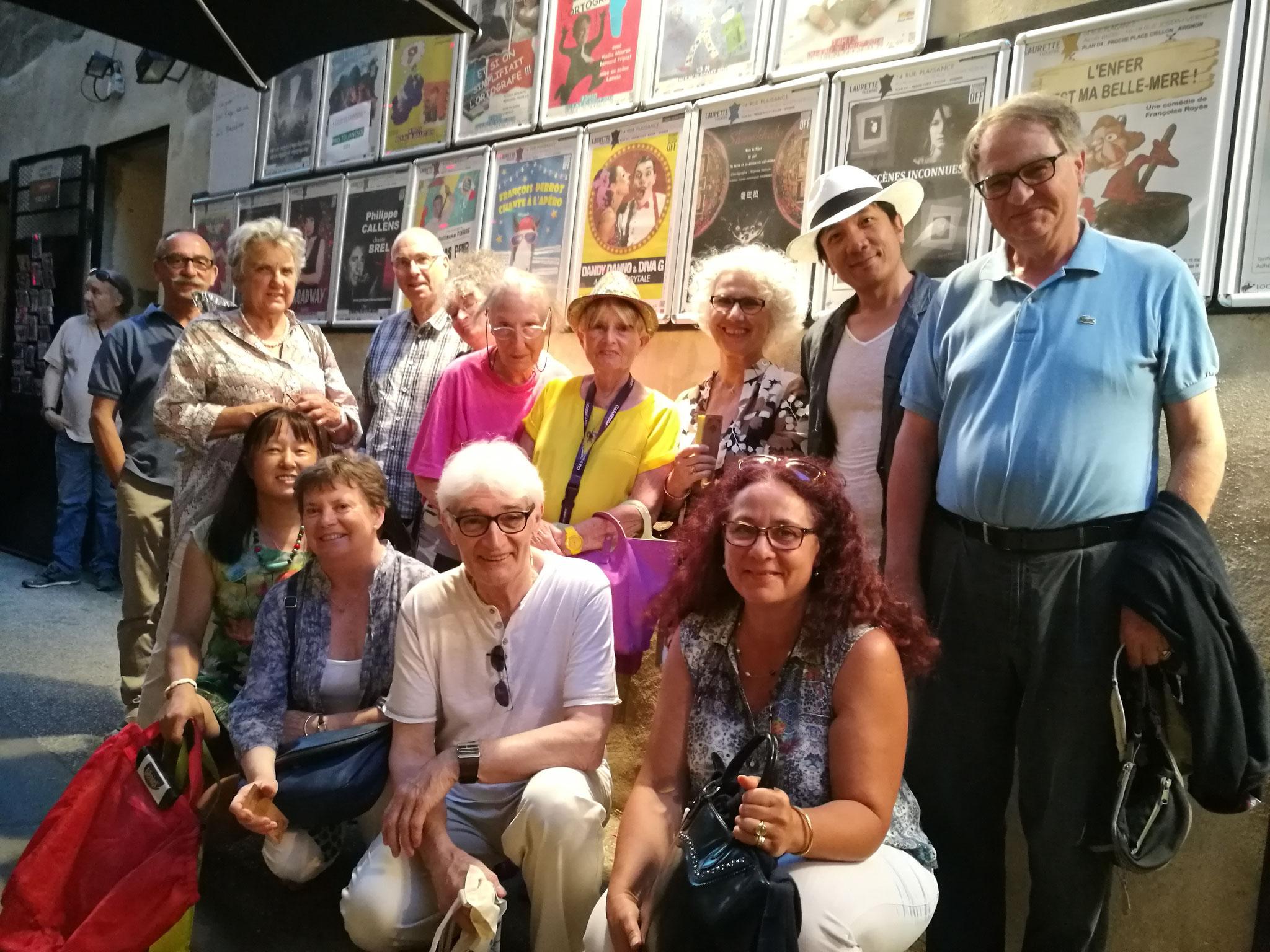 与法国L.G.L.H 文化协会的观众合影