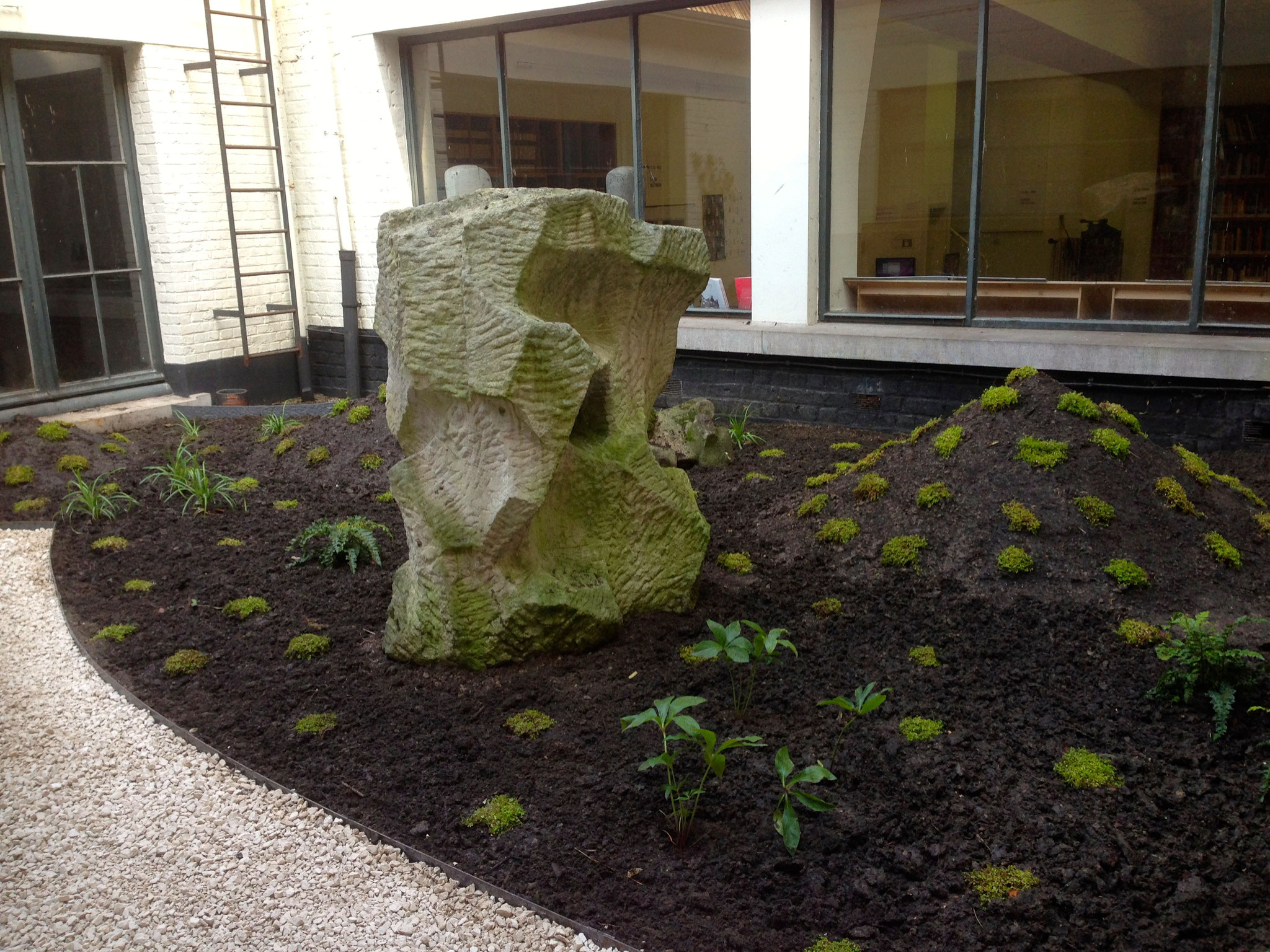 Cour de 60m2 - Style japonais - Année 0. Amenagement jardin Bruxelles