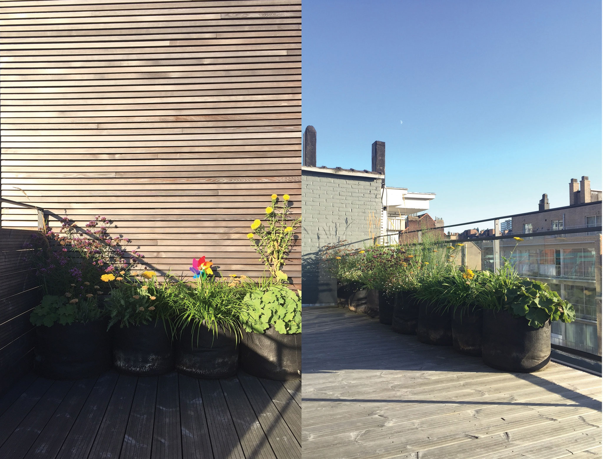 Terrasse 30m2 - Conception & réalisation - Recto/ Verso. Amenagement jardin Bruxelles