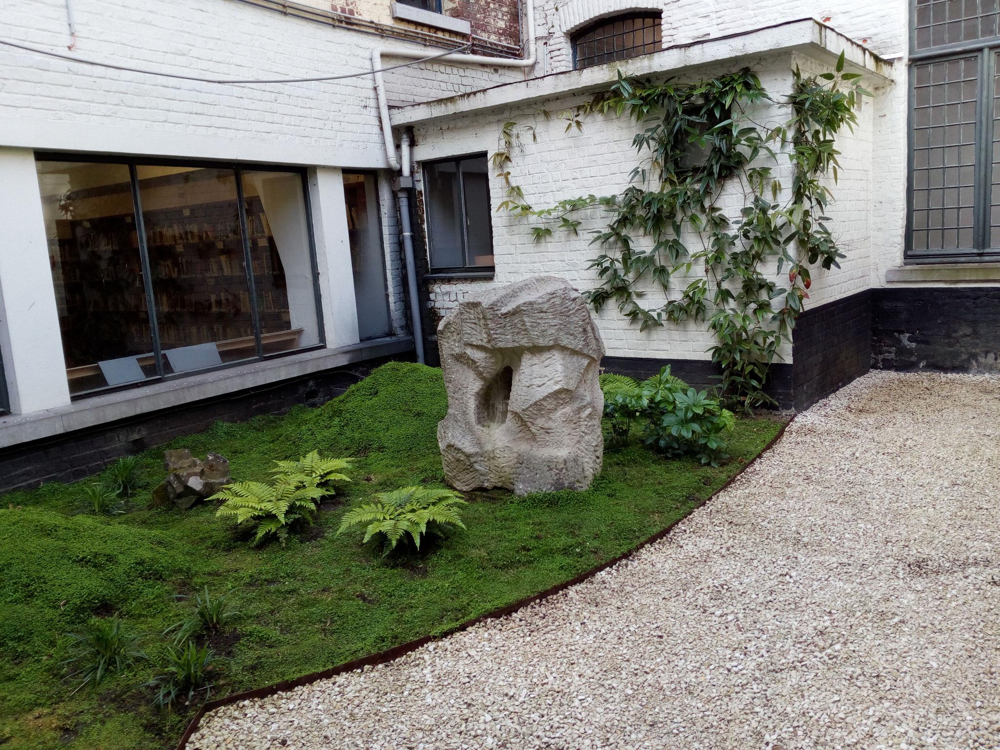 Cour de 60m2 - Style japonais - Année 1. Amenagement jardin Bruxelles