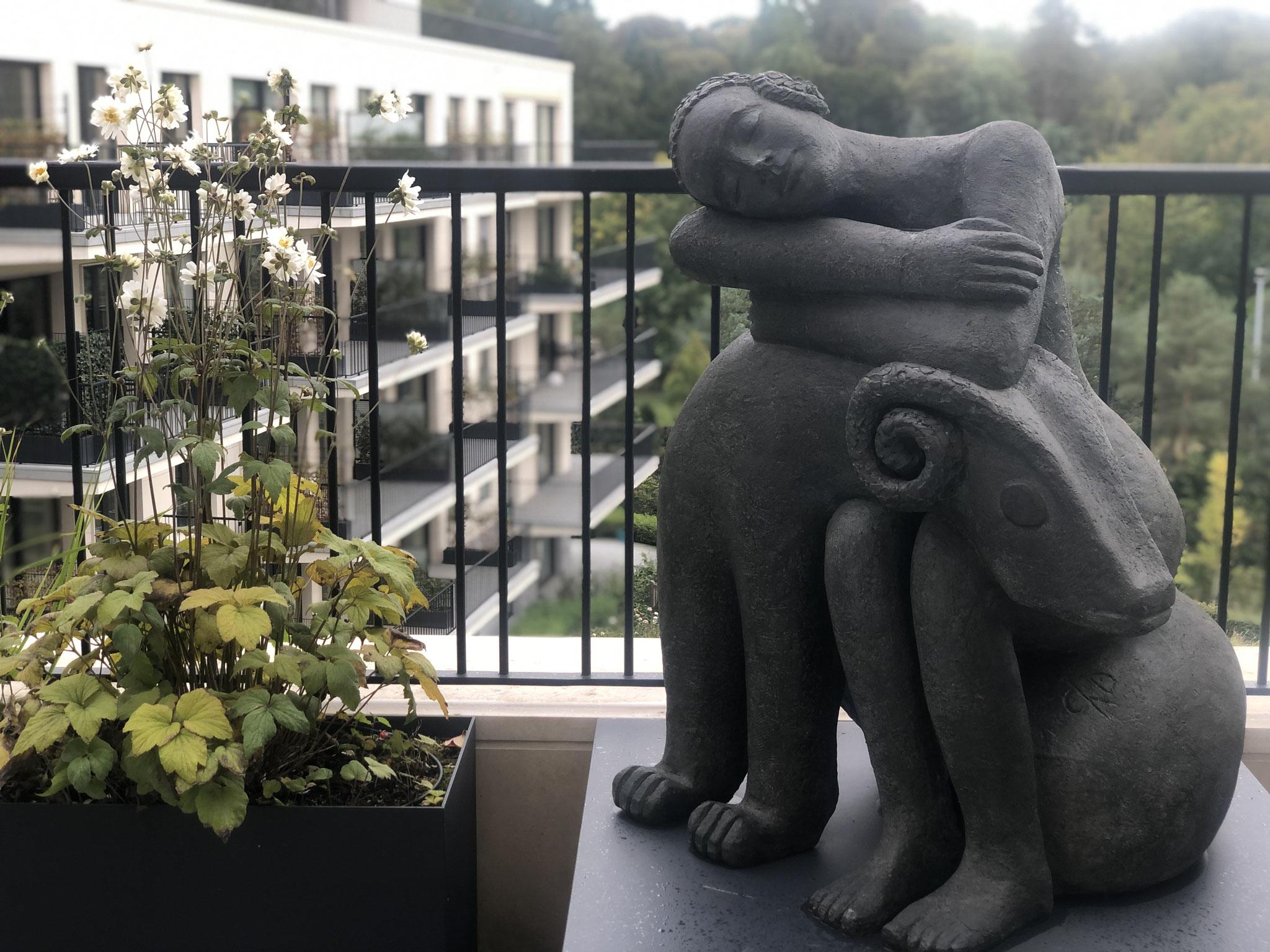 Terrasse de 25m2 - Jardin naturalliste - Détails. Aménagement jardin Bruxelles