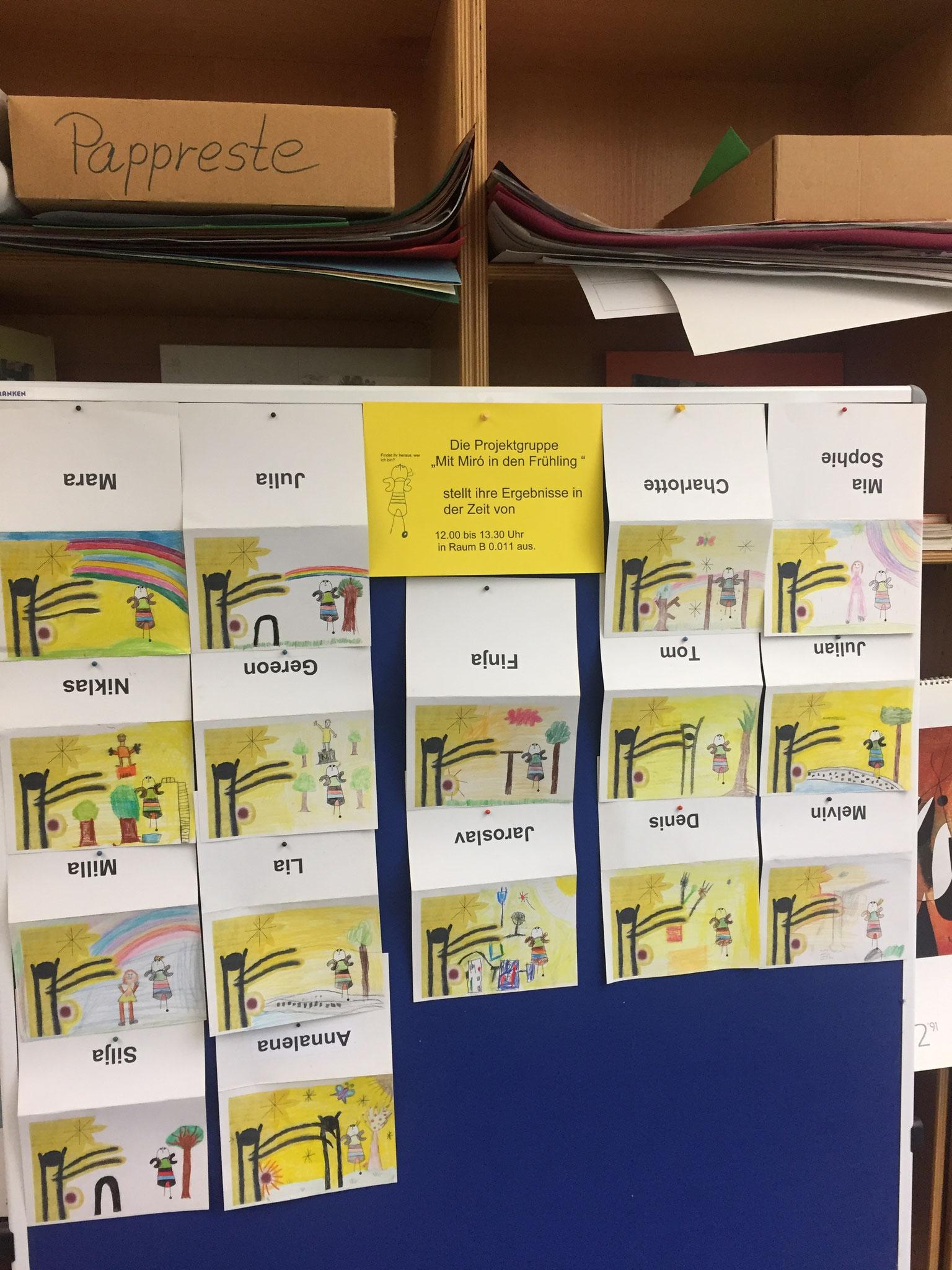 "Teilnehmer des Projekts ""Mit Miró in den Frühling"""