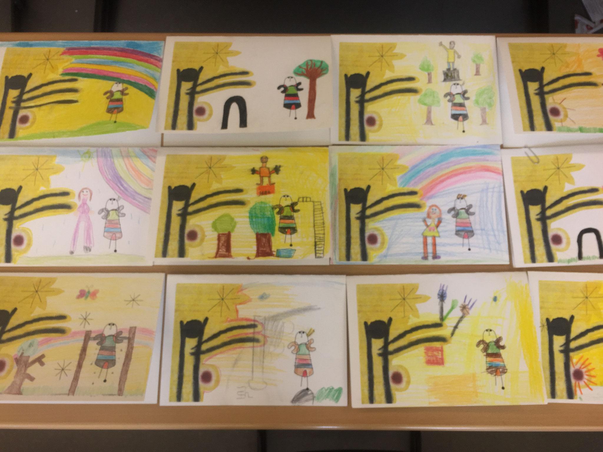 """""""Die kleine Blondine im Park der Attraktionen"""" – so gemalt, wie die Kinder sich den Park vorstellen"""