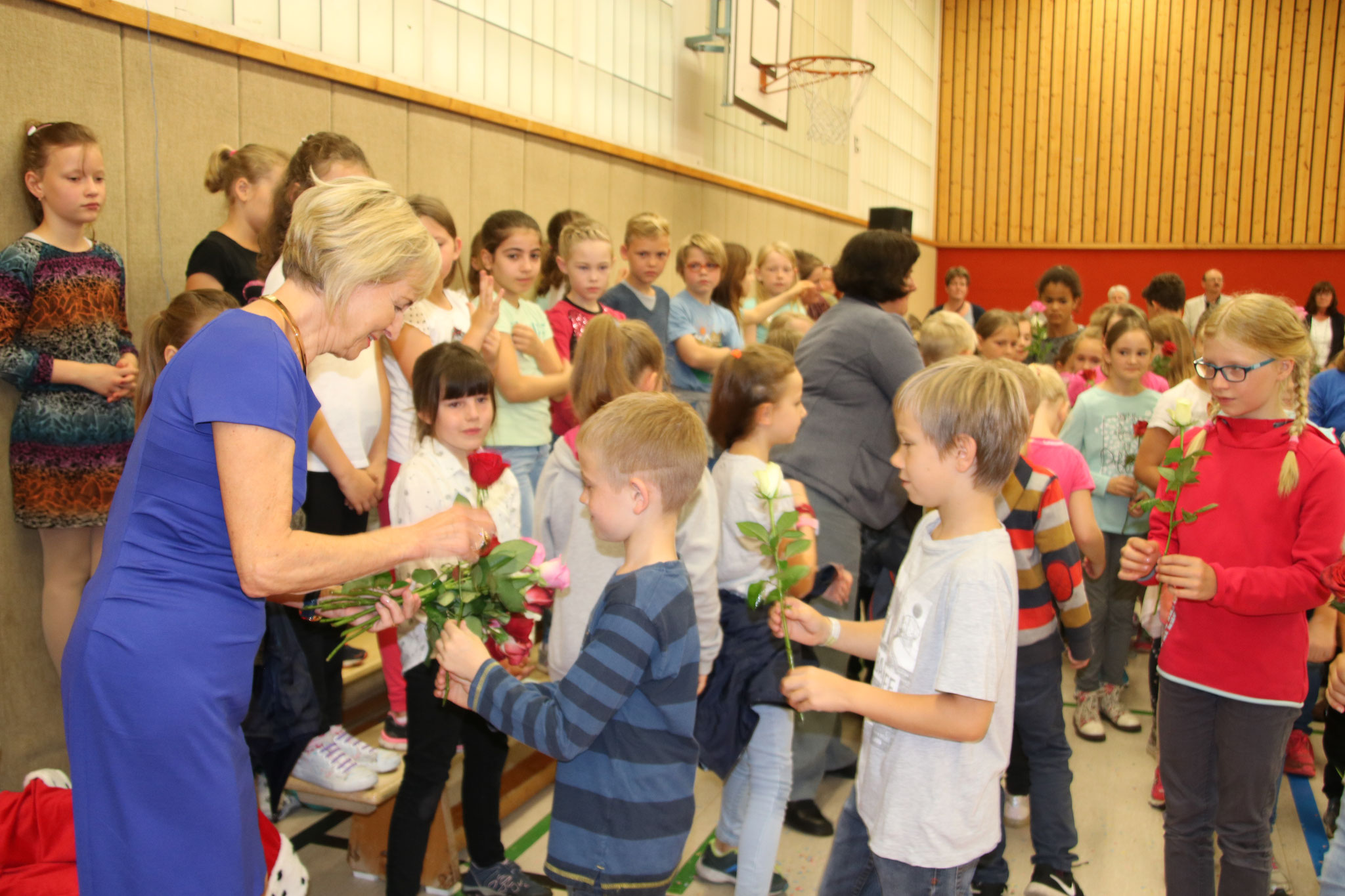 ... die Blumen aller 38 Klassensprecher...