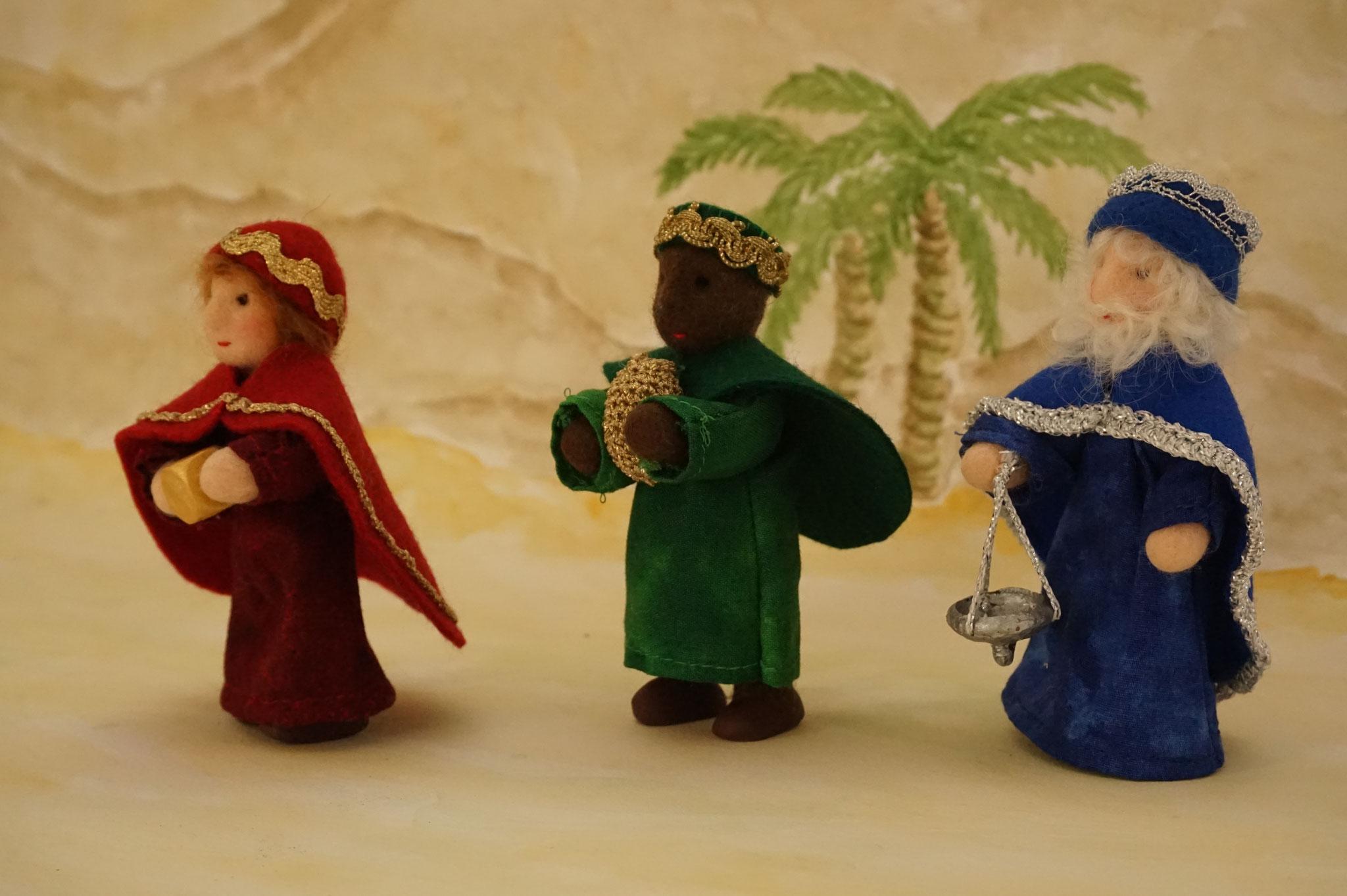 Krippenfiguren: Heilige drei Könige