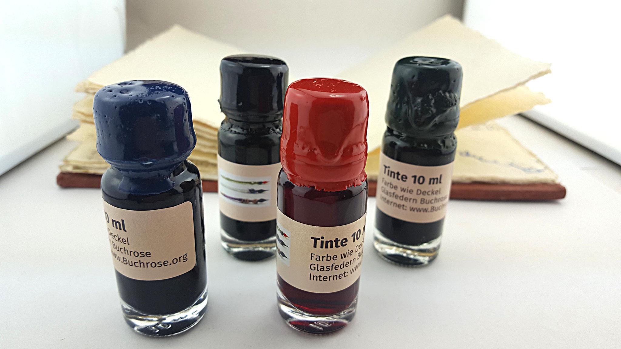 Jetzt sind kleine (10ml) Tinten im Shop erhältlich