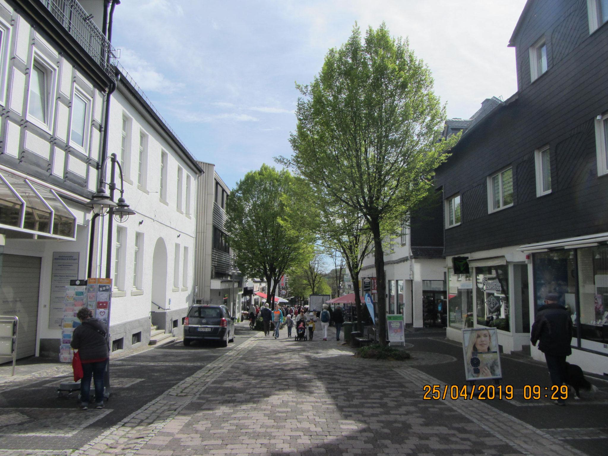 Einkaufsstraße in Brilon