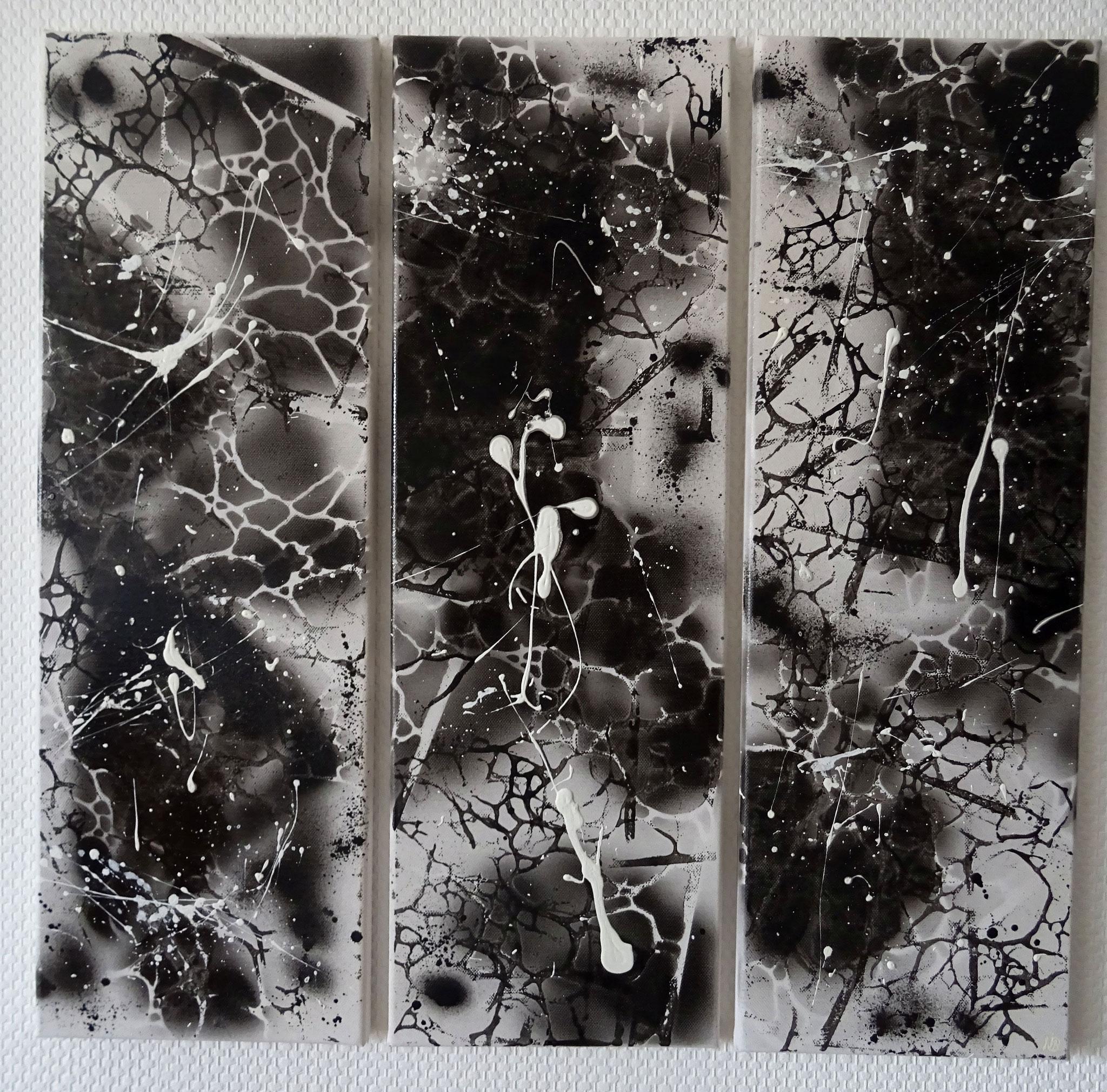 Black and White (20x60x1,5 - dreiteilig)
