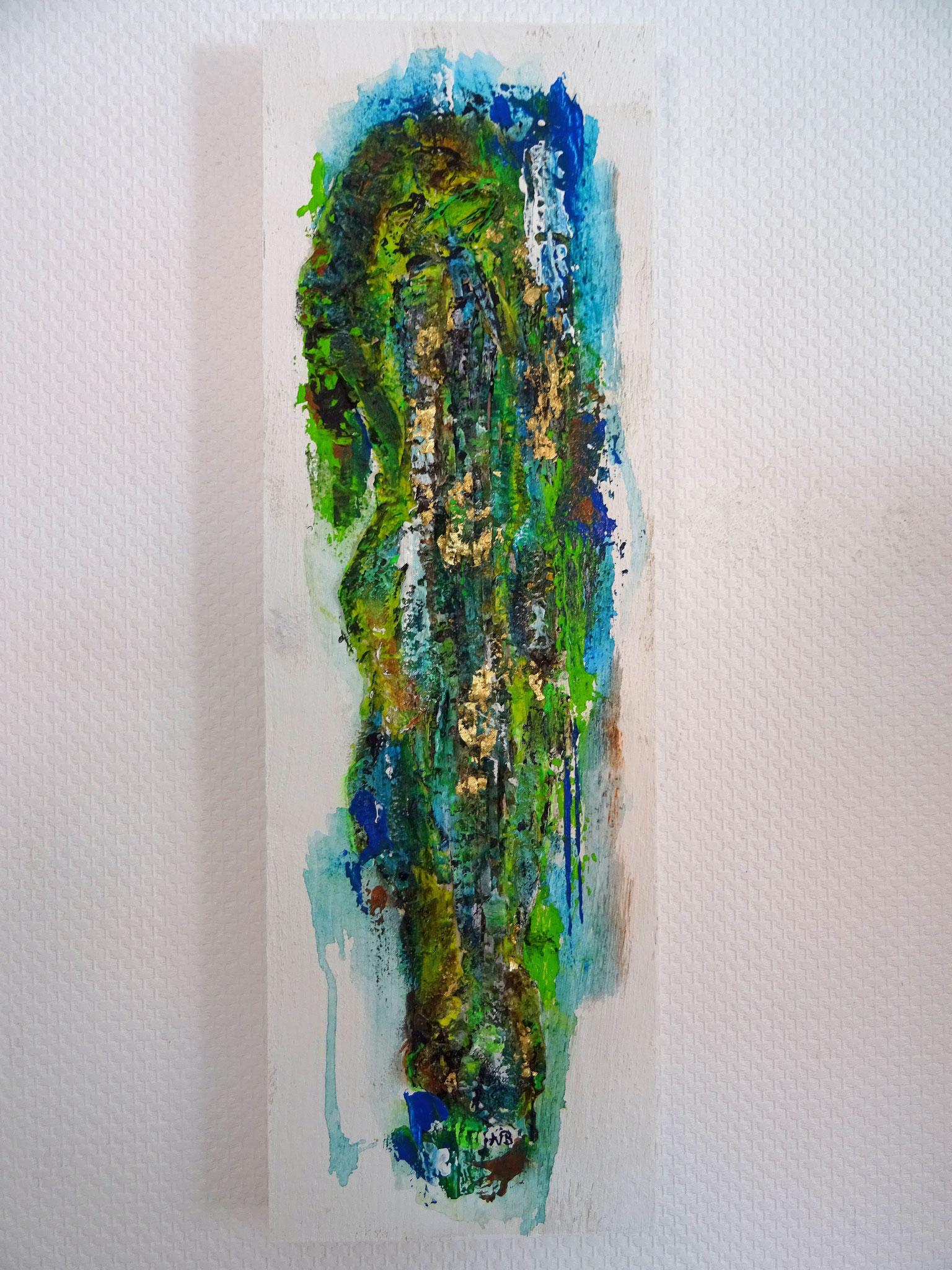 "Tau (19x60x3) - aus der Kunst-Reihe ""Back to nature"" - Applikation auf Holz"