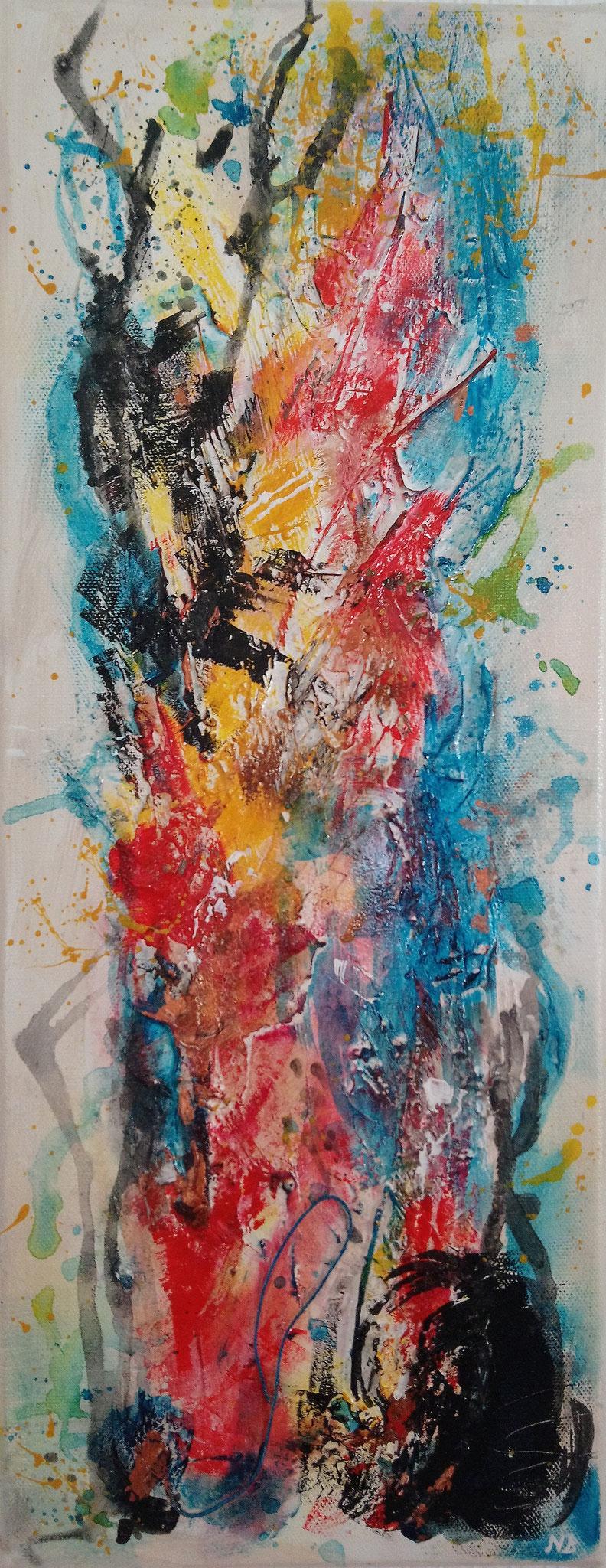 Art 98 - Flammenbaum (20x50x1,5)