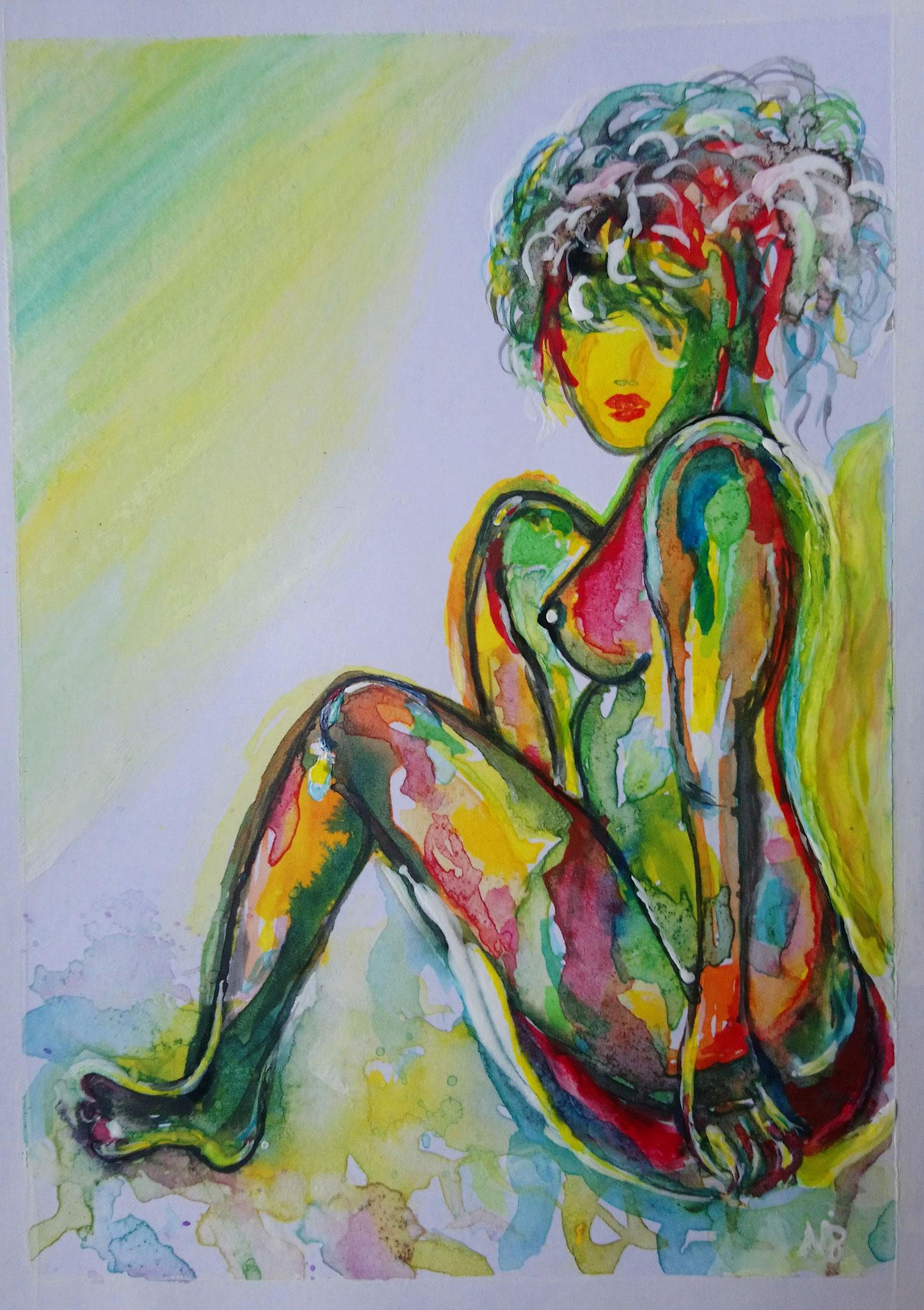 Ode an die Weiblichkeit 2 (10,5x14,8) - VERKAUFT