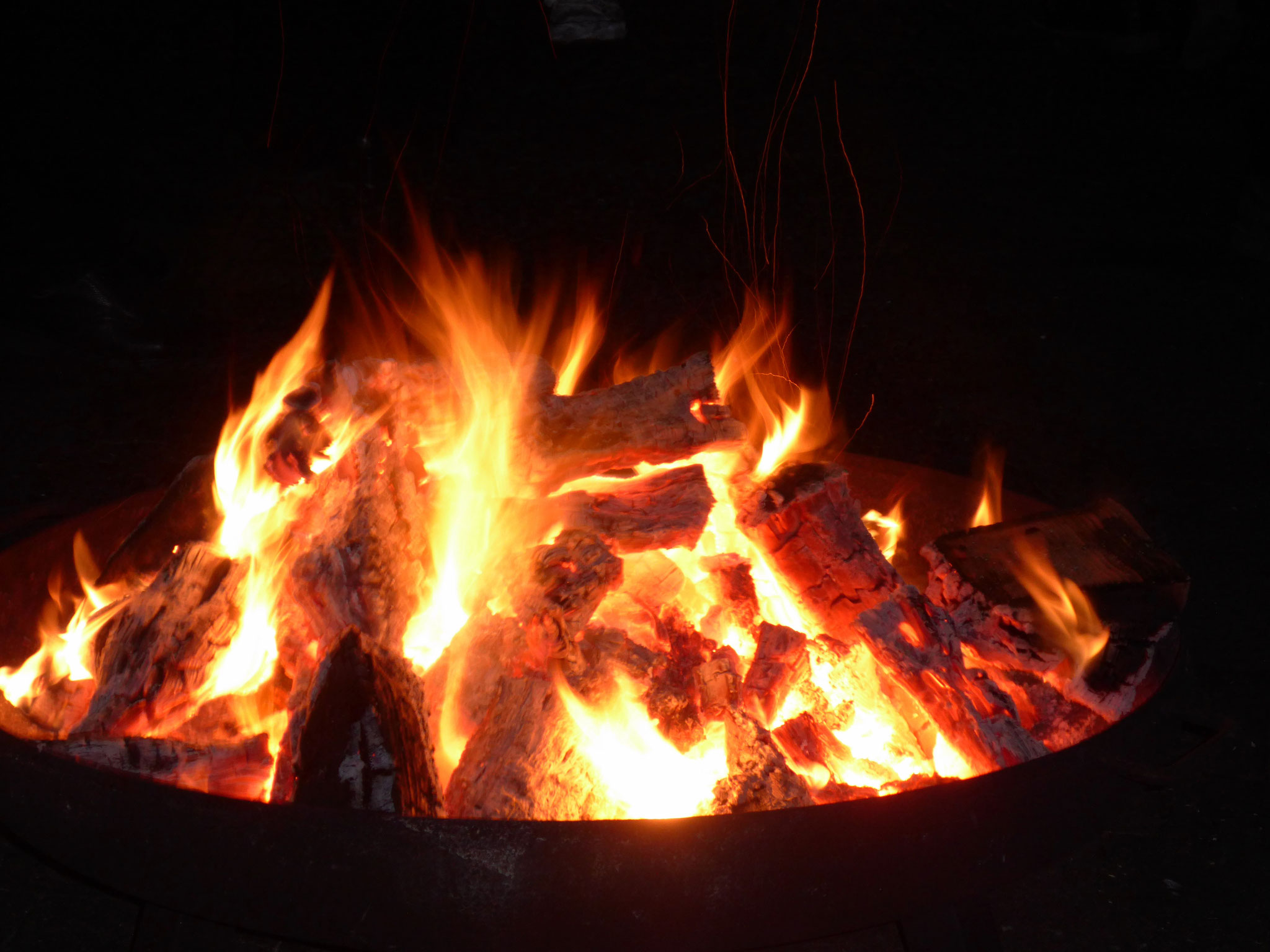 Am Lagerfeuer...