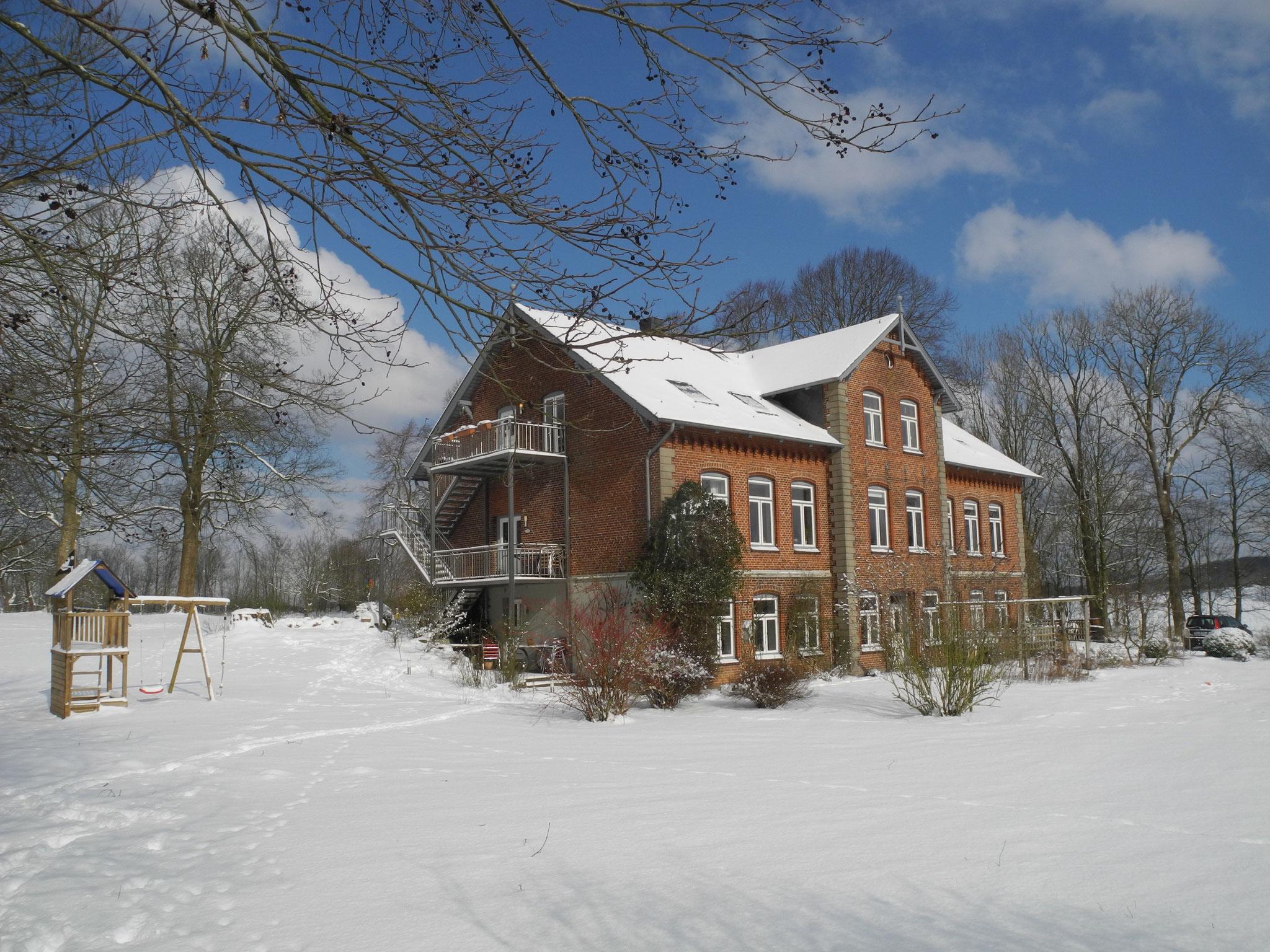 Landhaus Nordangeln im Winter