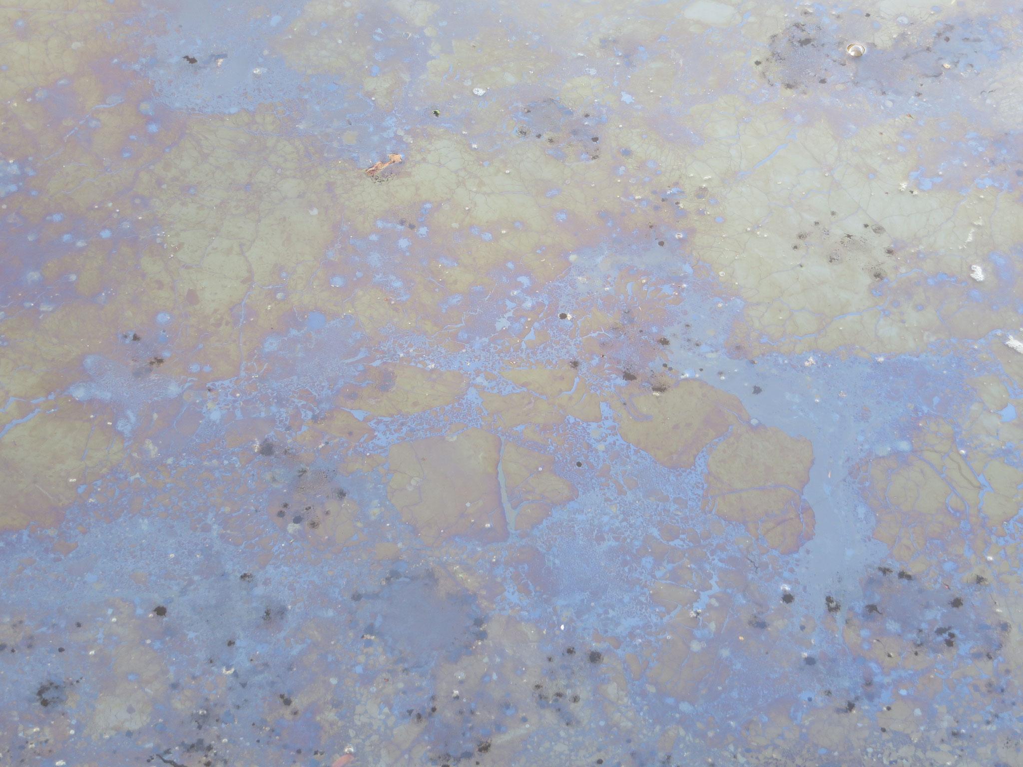 Kleurenpatroon van ijzerbacteriën.
