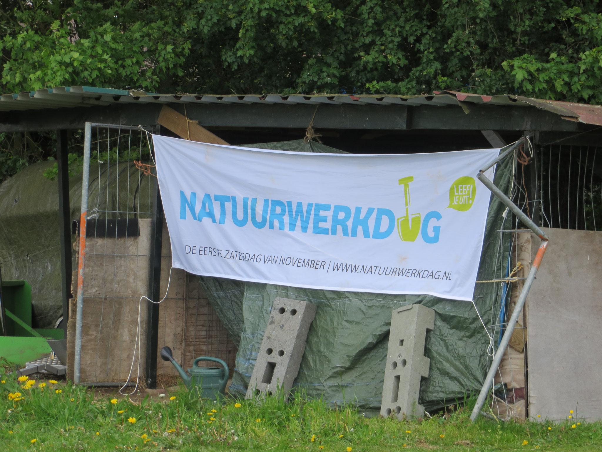 Aankondiging van de Natuurwerkdag.