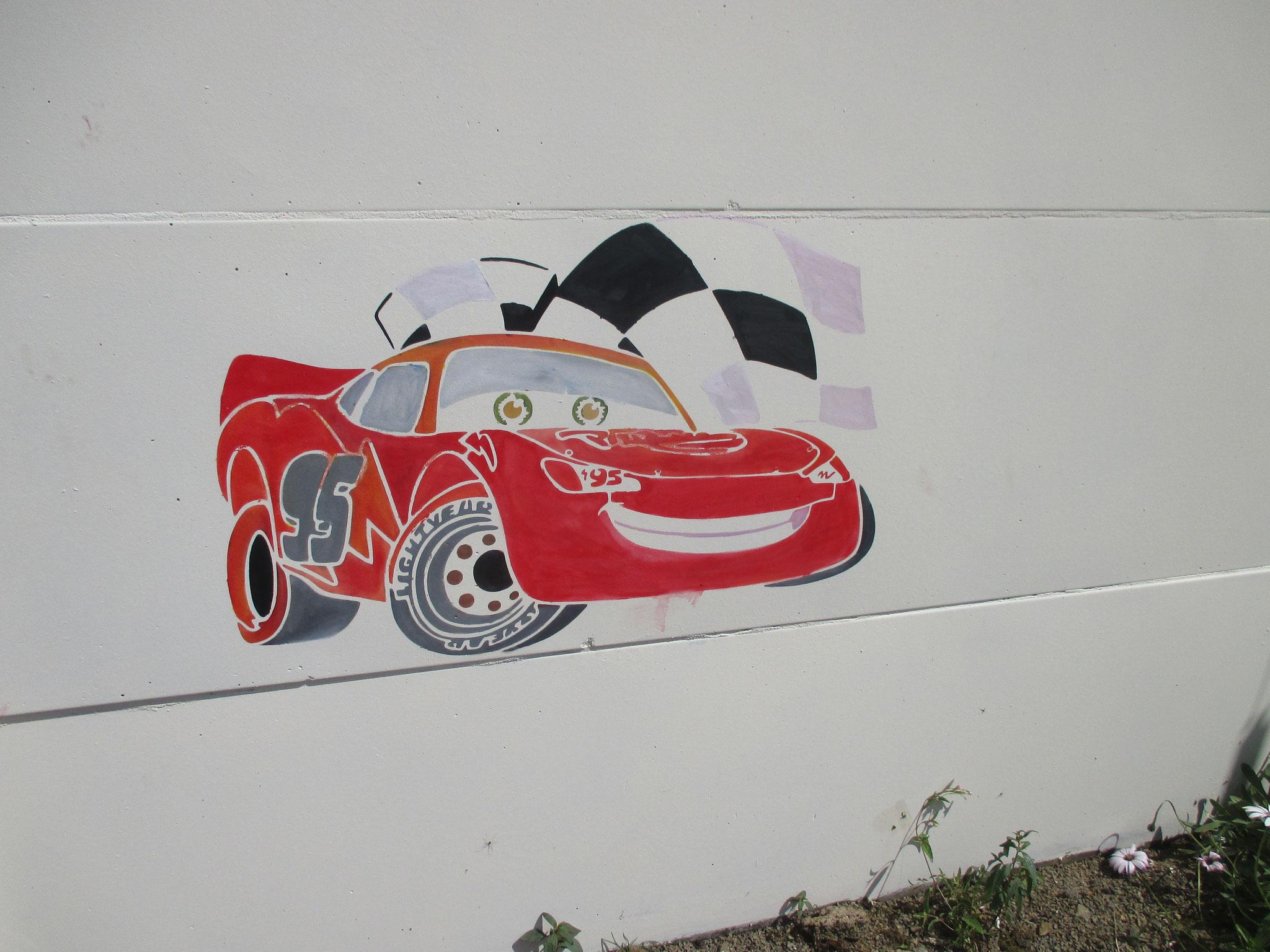 La voiture réalisée par William, 5 ans