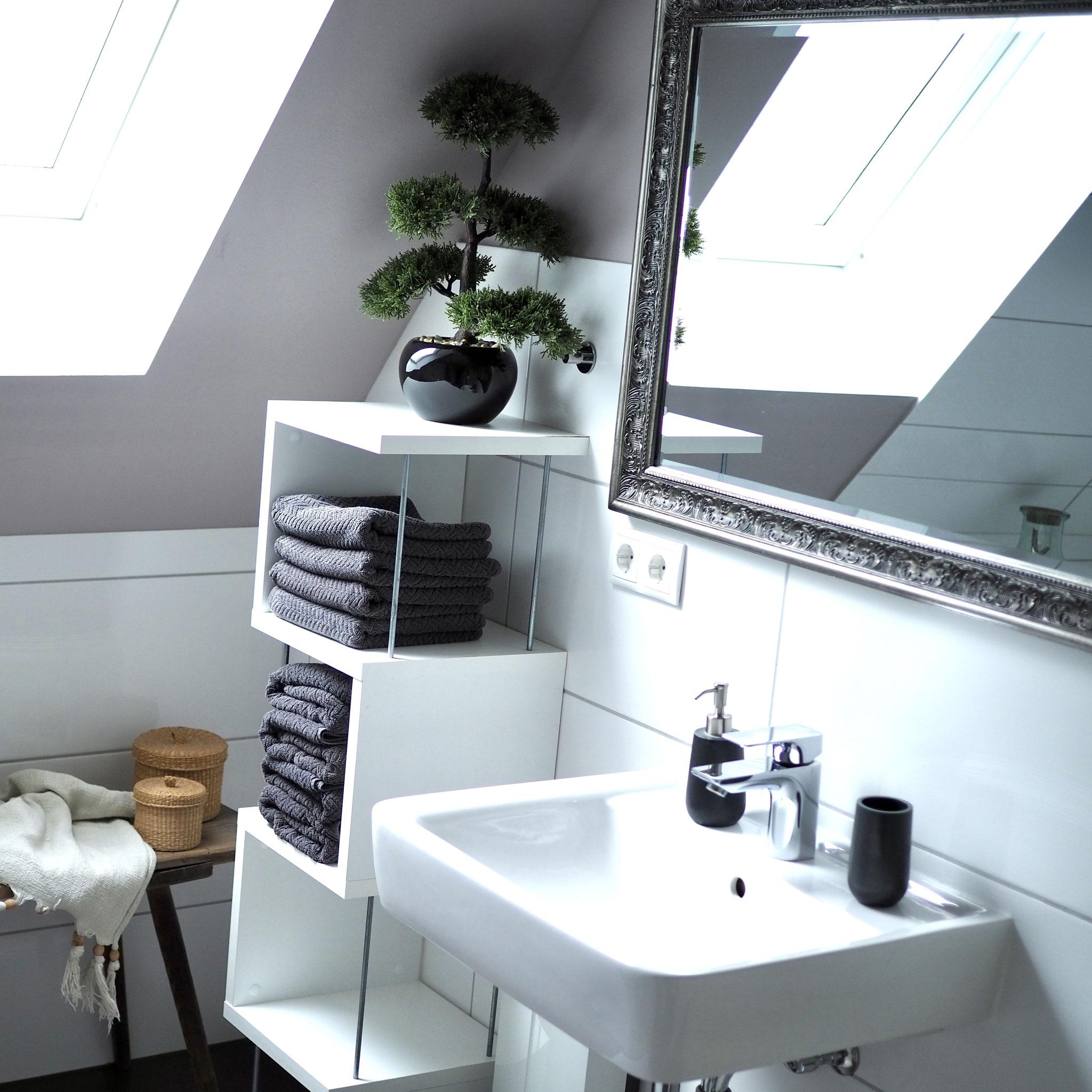 Ferienwohnung Schwerin - modernes Badezimmer mit Badewanne