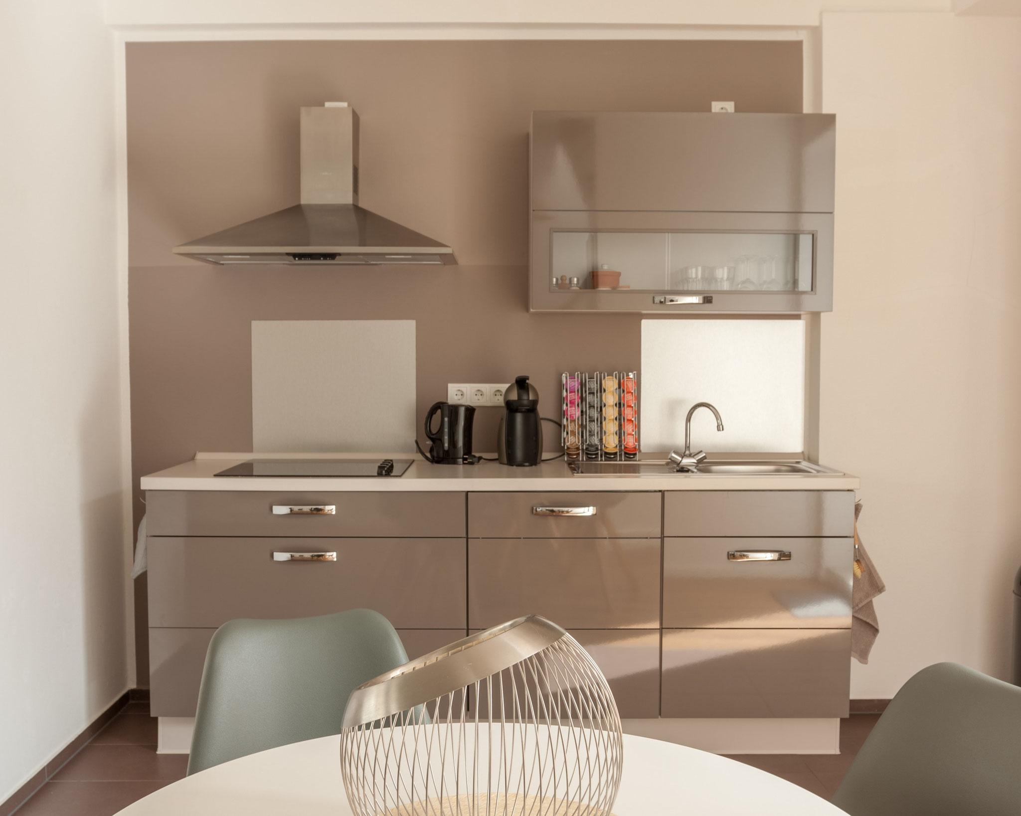 Ferienapartment Schwerin - moderne Küchenzeile