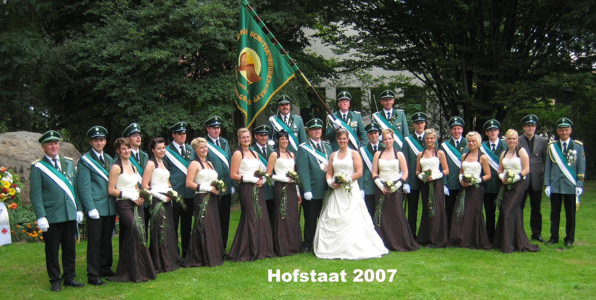 Hofstaat 2007 Stefan Hessel und Jennifer Schniedertüns 10 Jahre