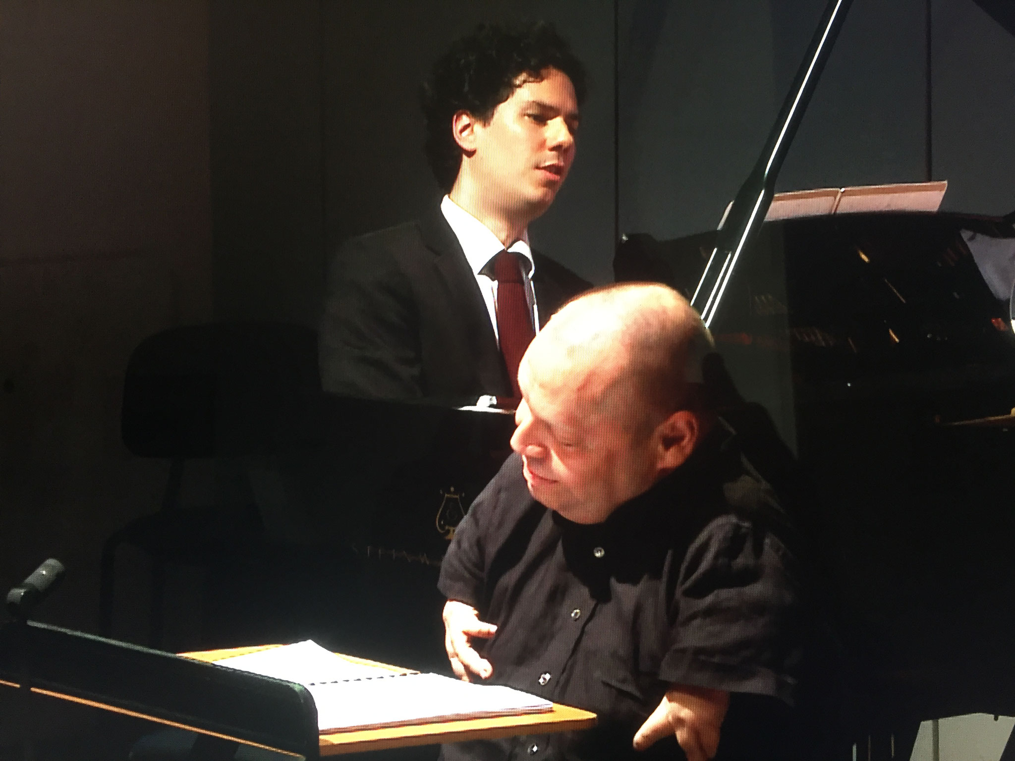On stage with Thomas Quasthoff