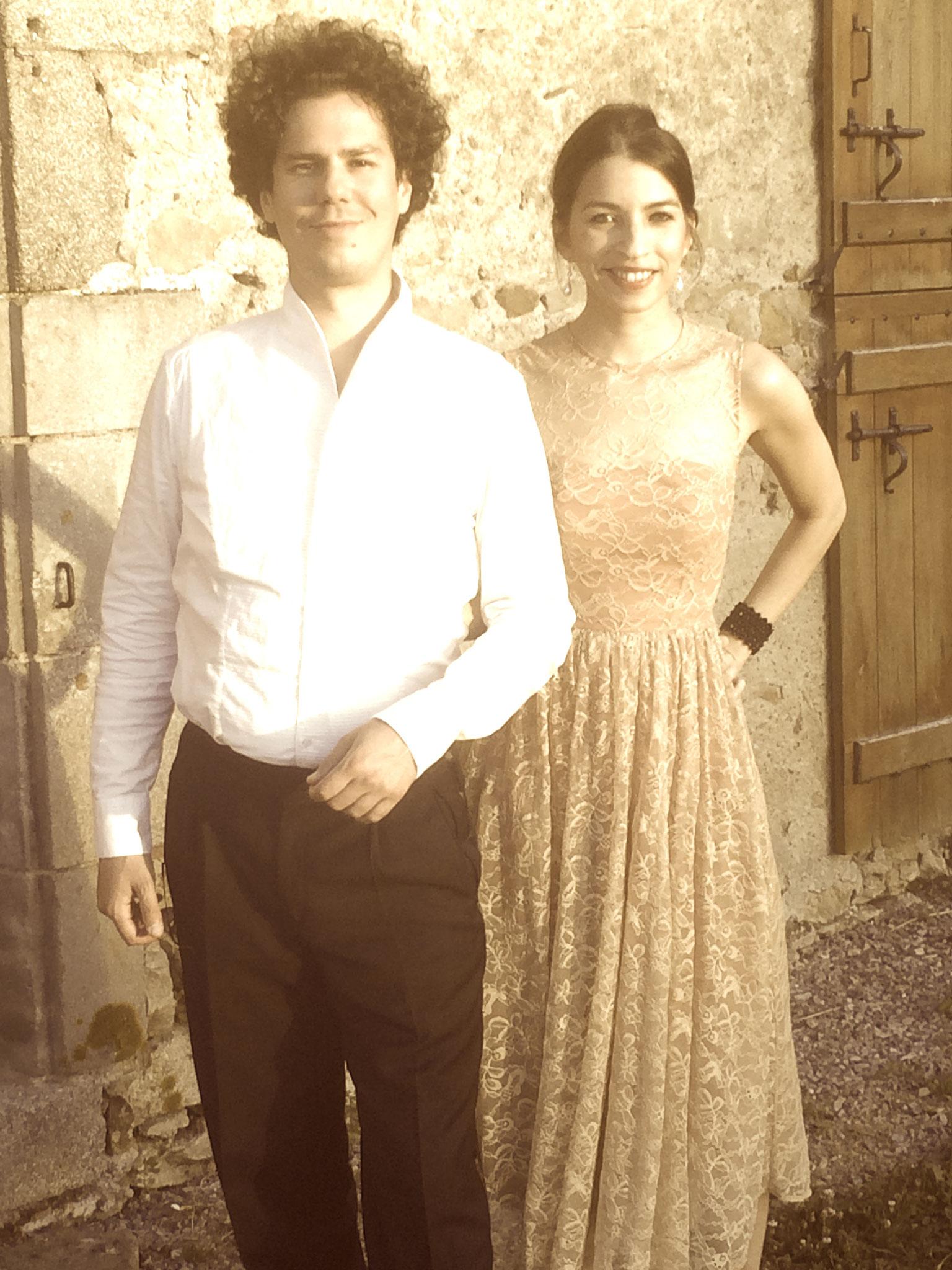 "before concert with Alice Ferrière at ""La Grange aux Pianos"" Chassignolles"