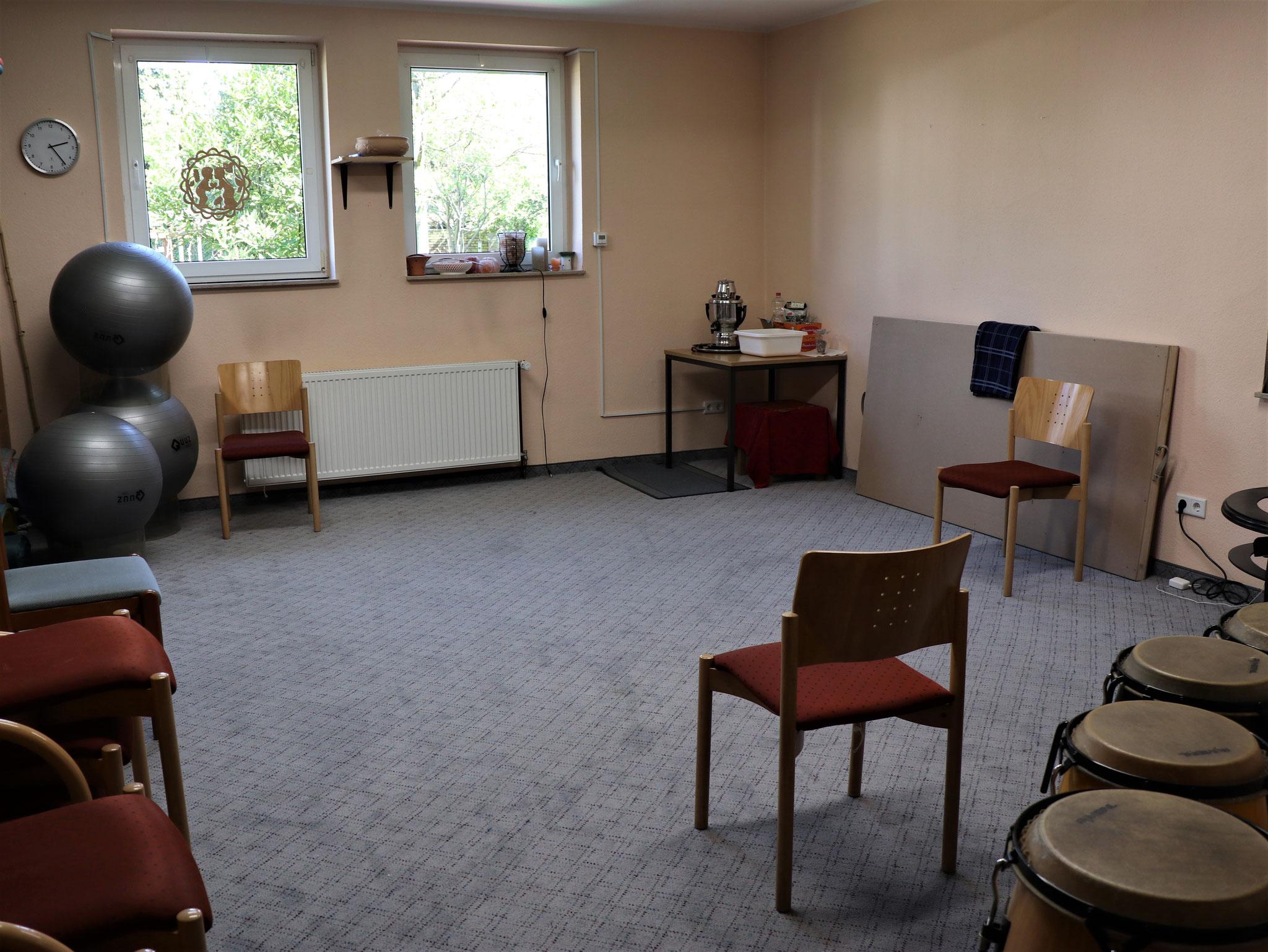 Hier entsteht derzeit ein neues Office; Laminat ist inzwischen verlegt