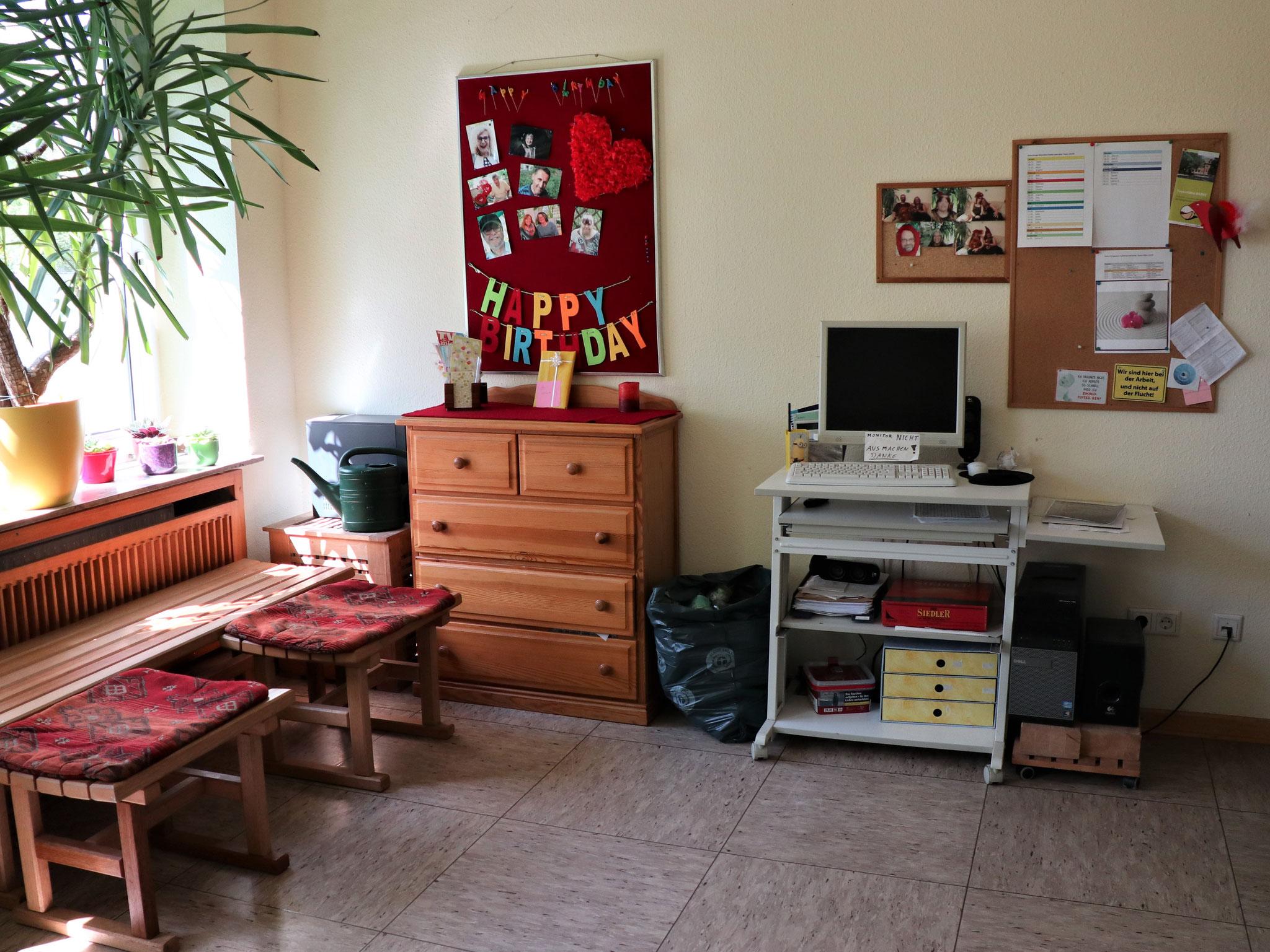 Hier entsteht das Büro der Einrichtungsleitung Sabine H.