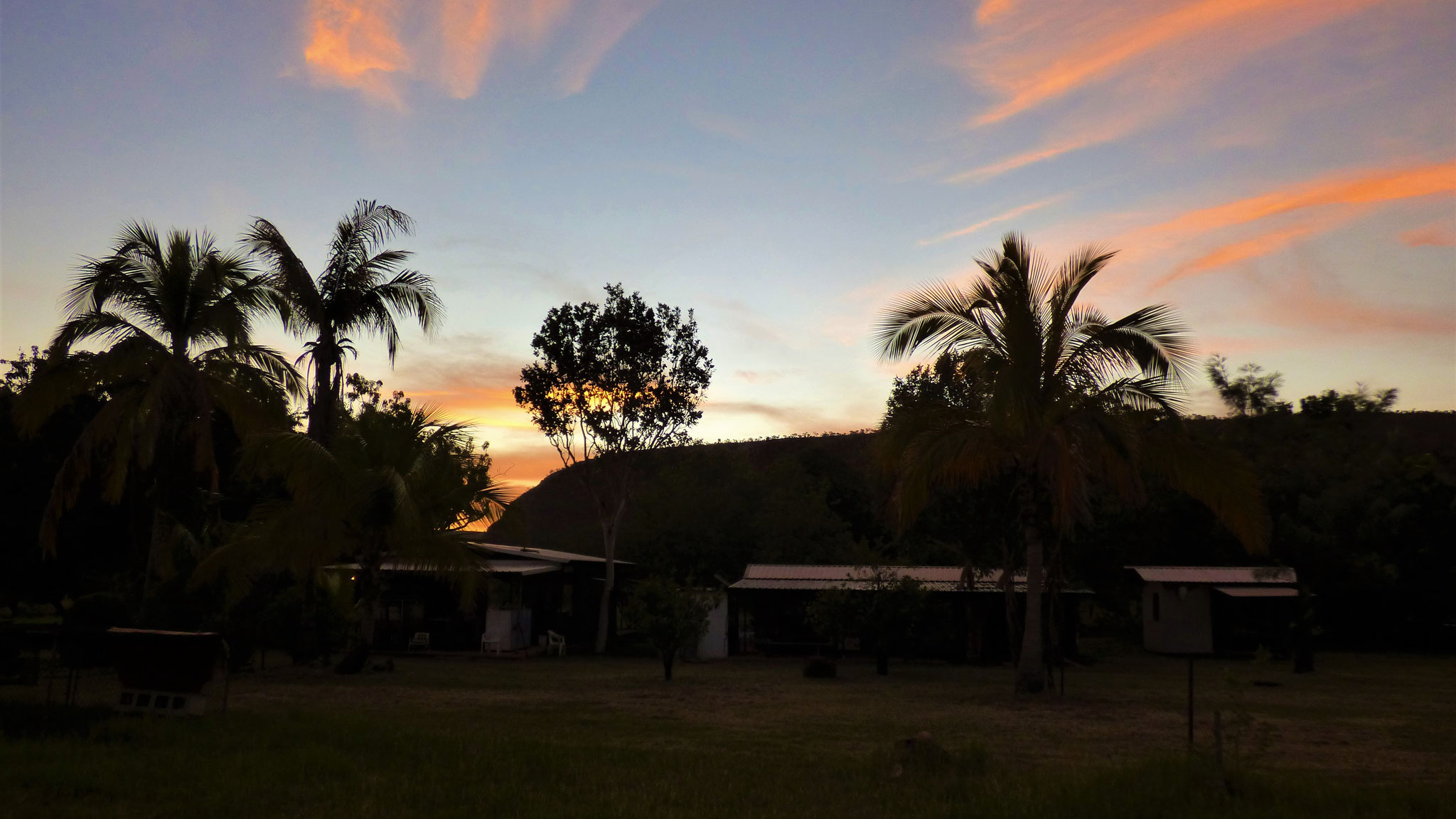 Dusk at the camp