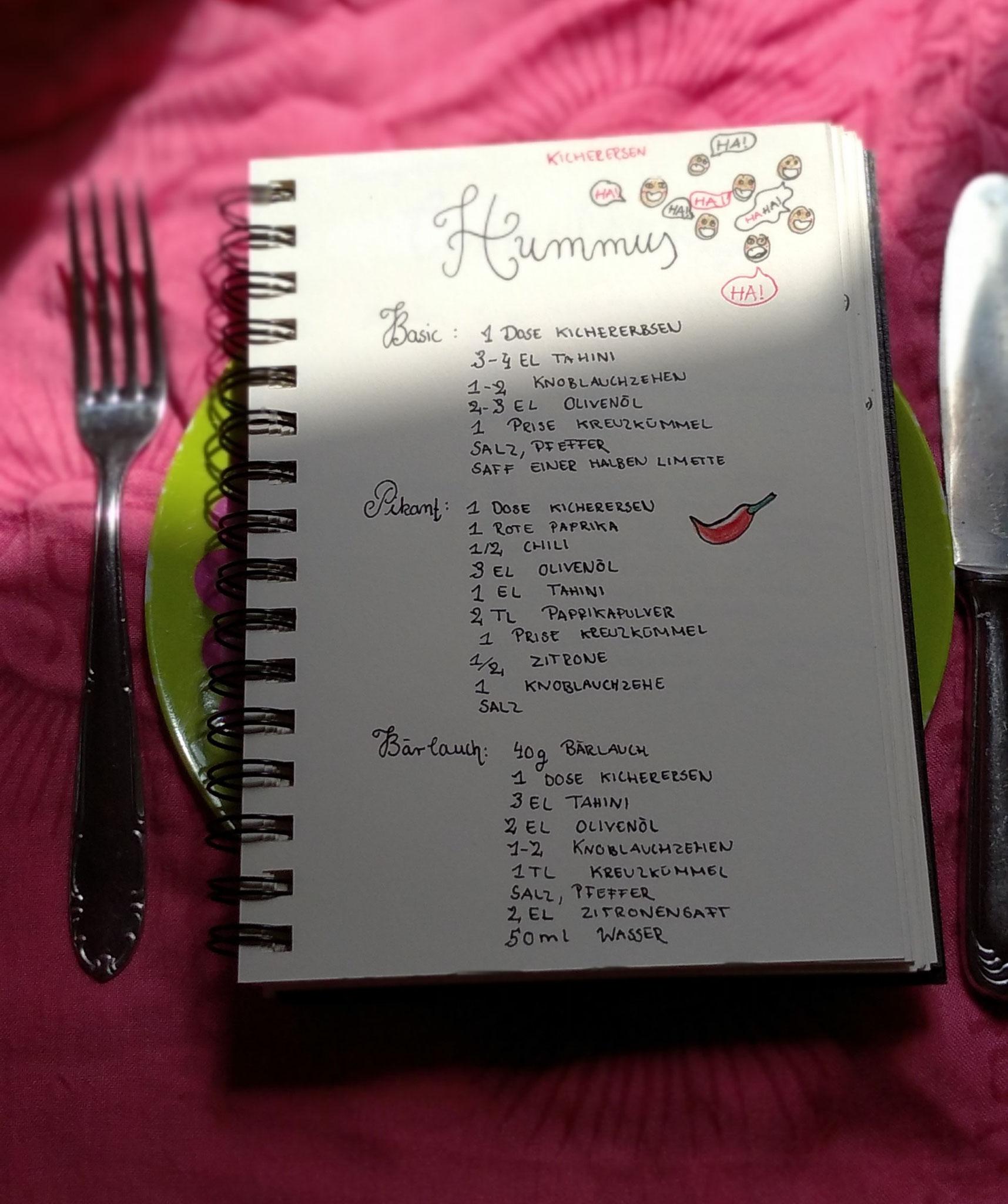 Kochbuch handgeschrieben