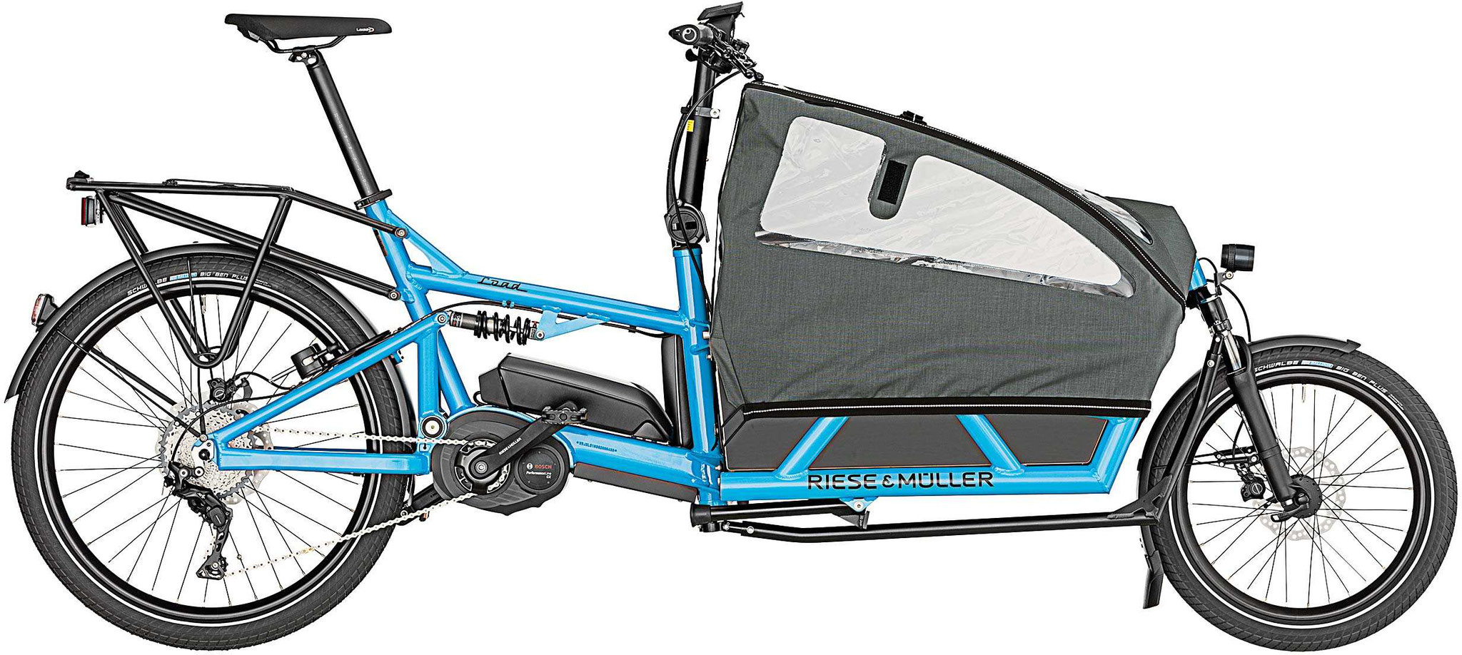 Riese & Müller Load 60 touring cyan 2019