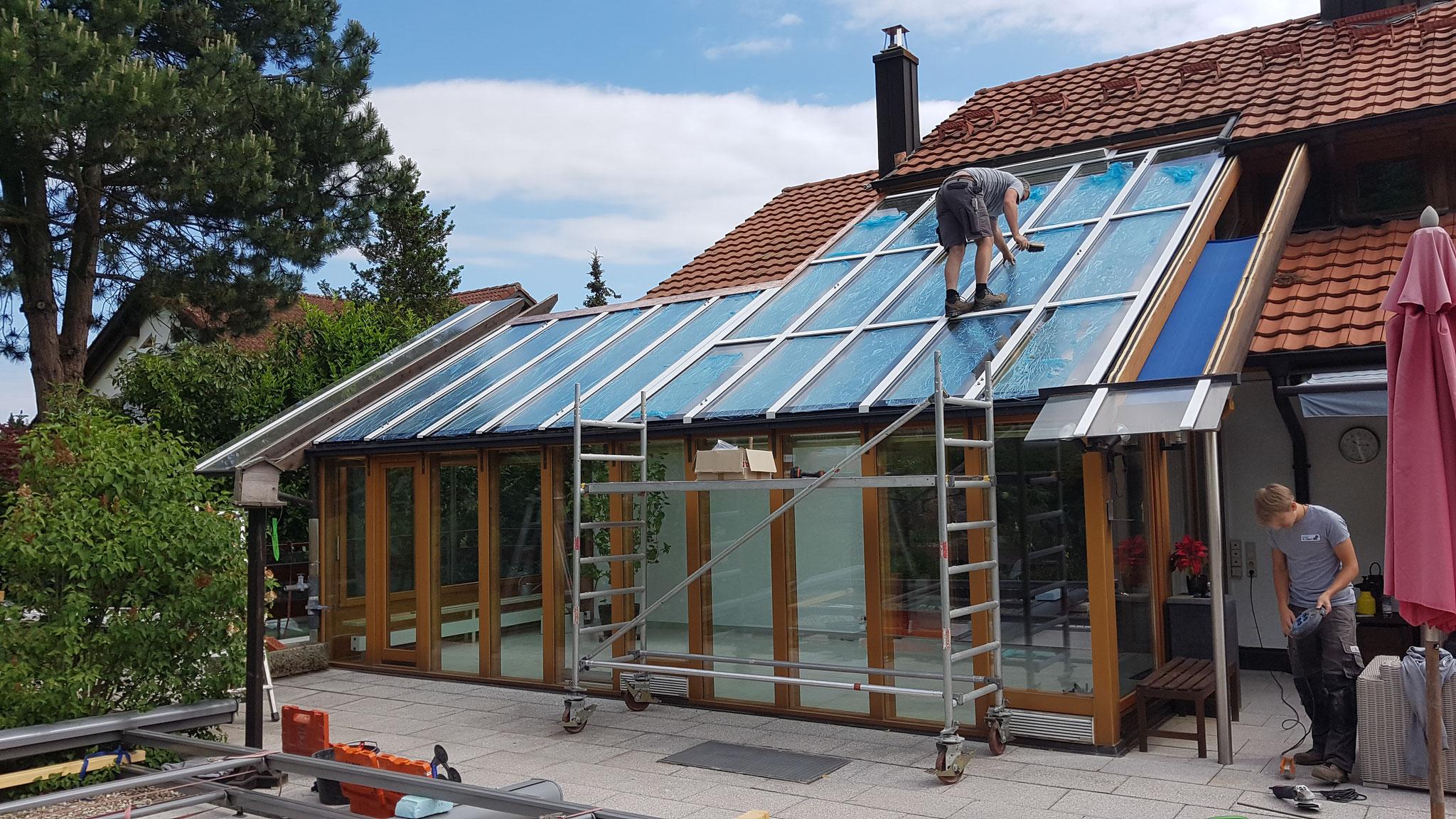 sanierter Neuaufbau Glasdach
